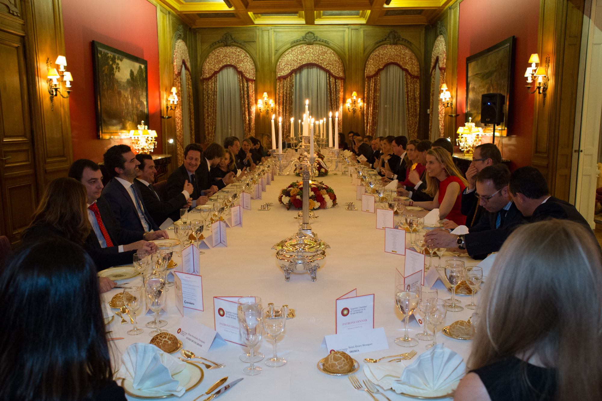 Spanish Chamber of Commerce Patrons' Dinner at Spanish Embassy, London 2015
