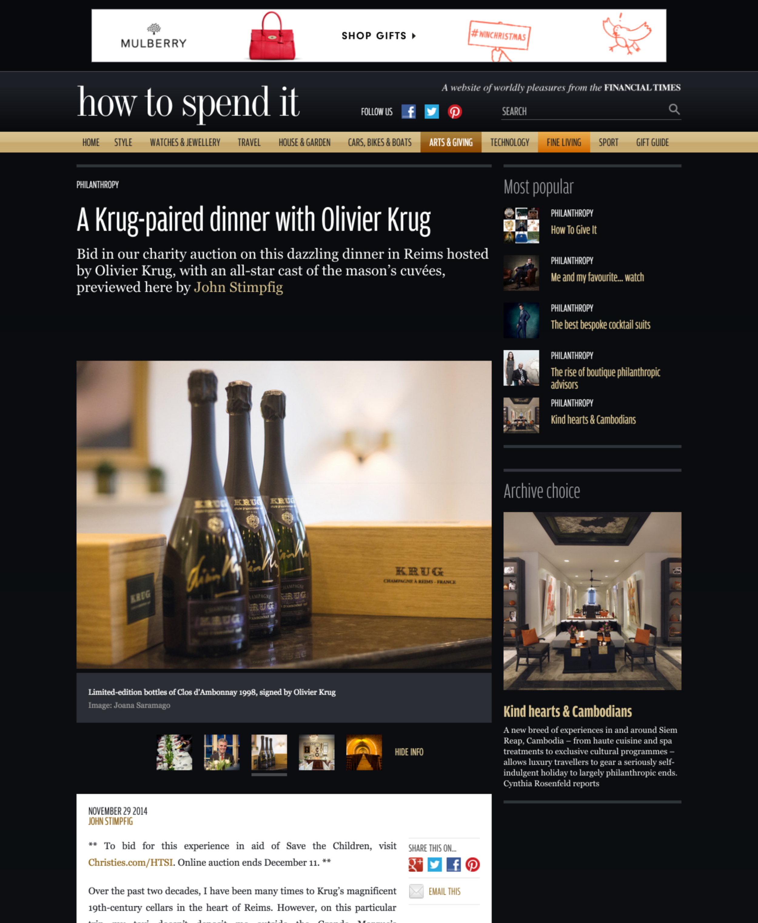 Tearsheet —  How to Spend it — Financial Times