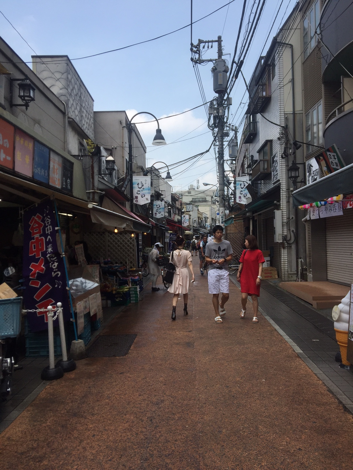 Exploring the streets of Yanaka in Japan, July 2017