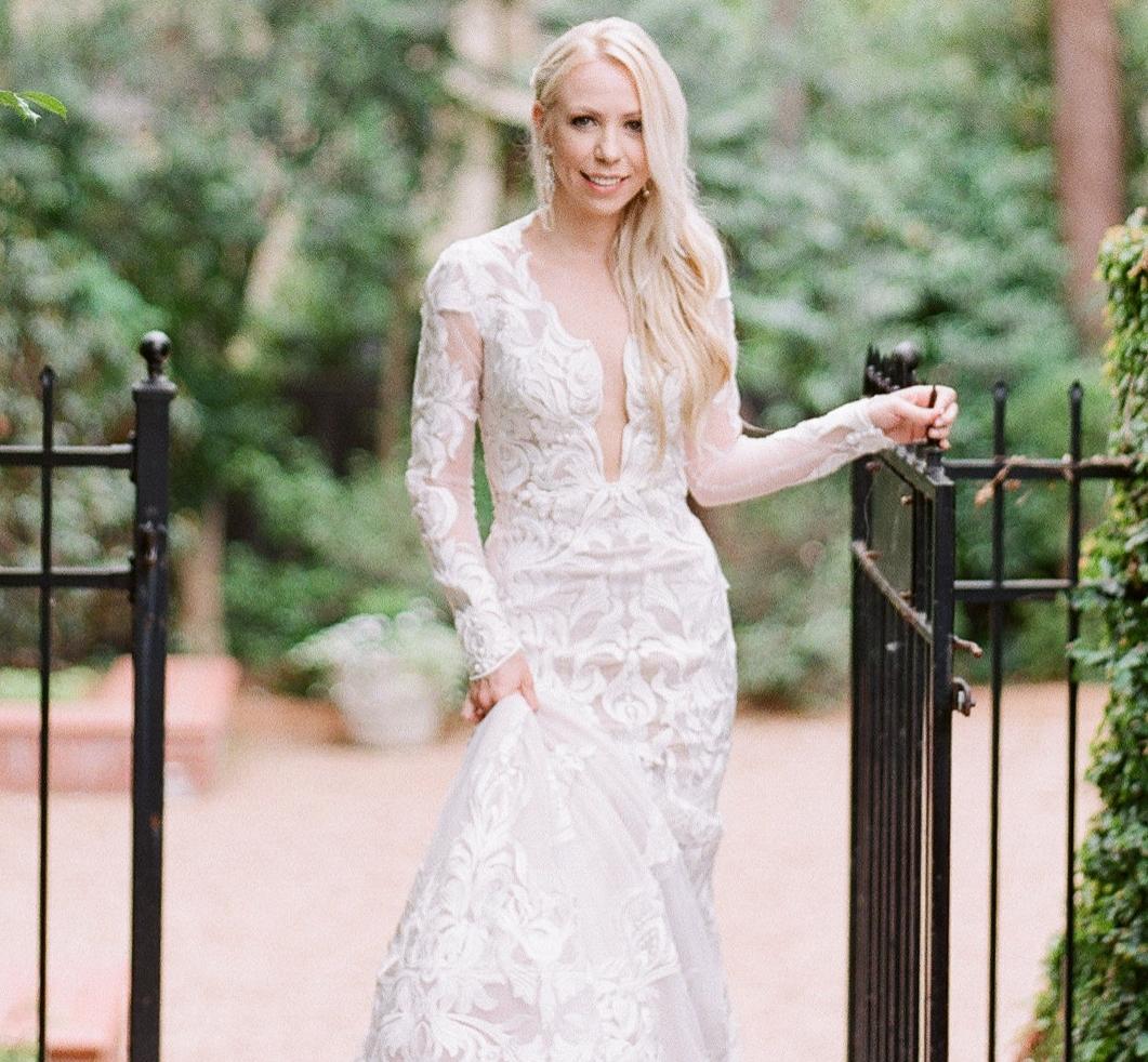Stunning Jessica is wearing a custom design
