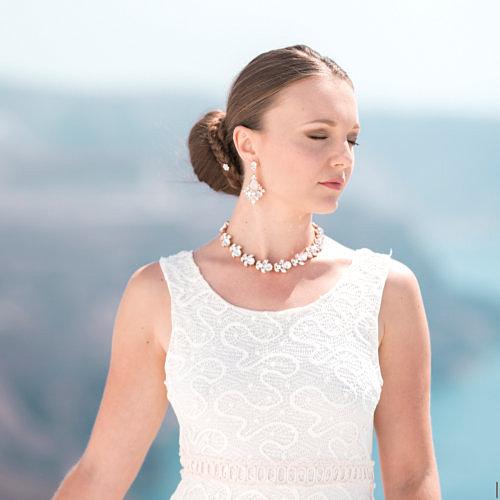Adeline earrings & Karla necklace