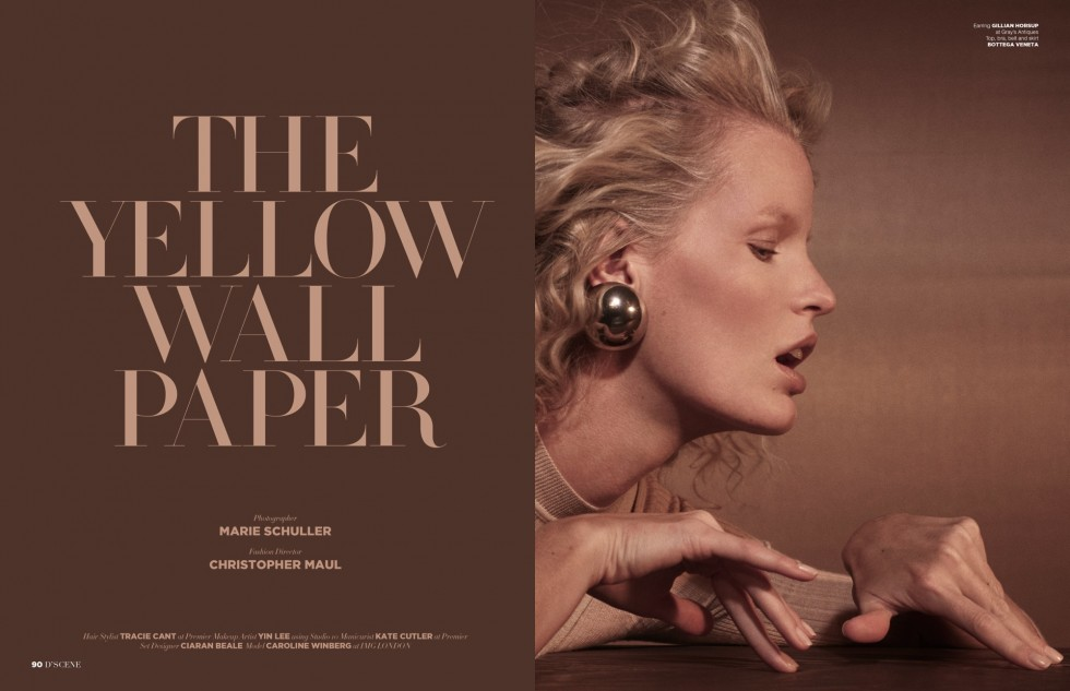 Design Scene. The Yellow Wallpaper