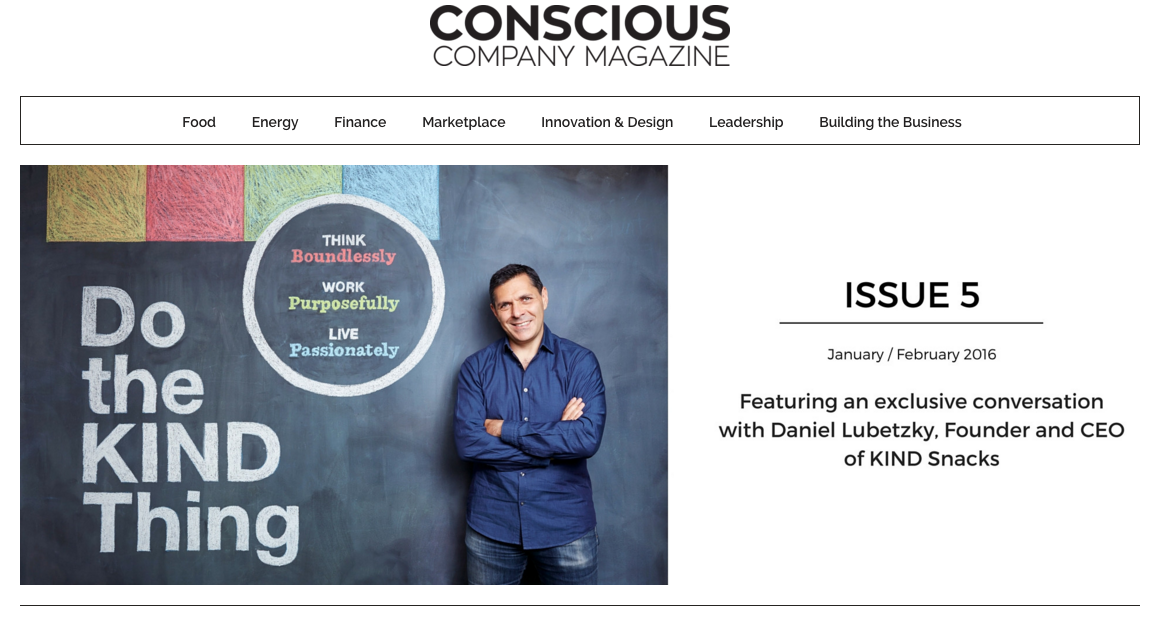 Current online issue of Conscious Company