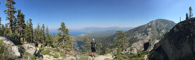 My 22 year old nephew on his own search to find his path - hiking in the Lake Tahoe area last week with my visiting nephew, I realized the time I was taking with family and friends this summer was more than priceless and contributed in a great way to my thought process about finding my own path.