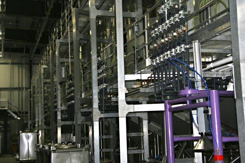 Process piping at Terravant Winery
