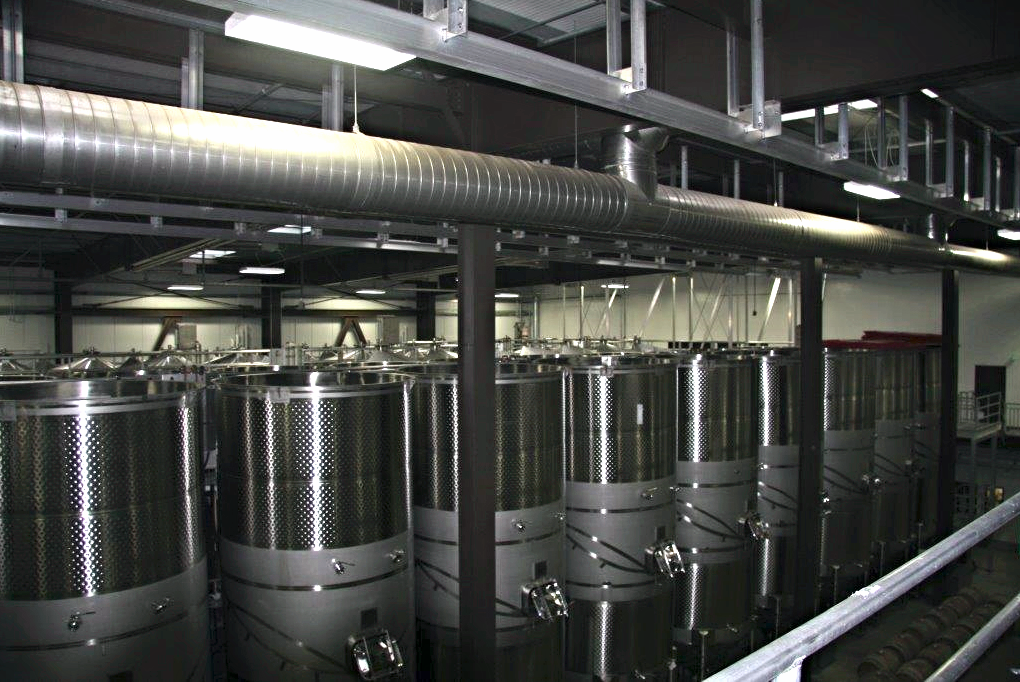Tanks executed at Terravant Winery