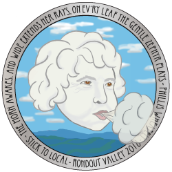 This limited edition sticker has a beautiful silver border and is a tribute to naturalist Ann Guenther.