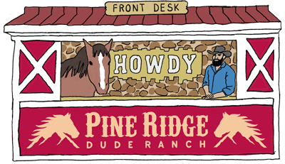 Collect ALL the stickers and you've got a chance to win a weekend for 4 at pine ridge dude ranch!!!