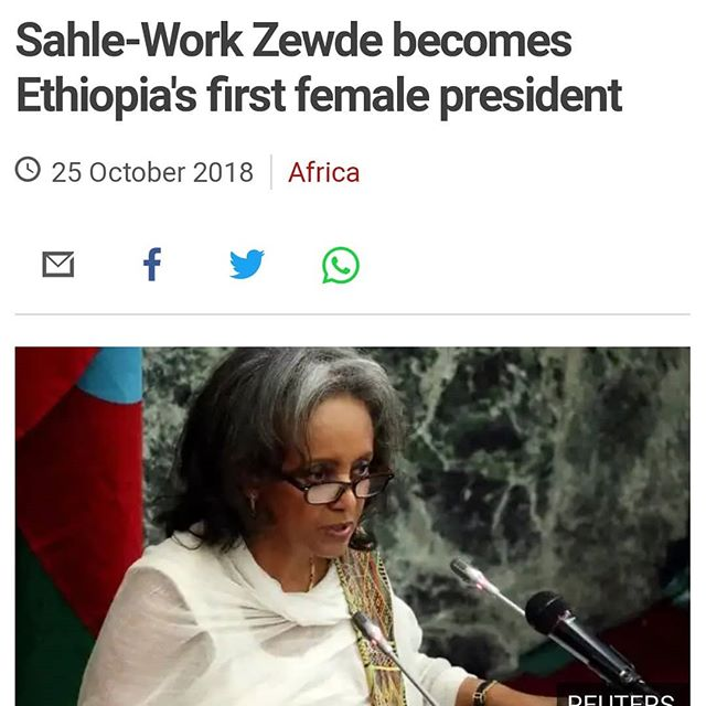 "What a week for Ethiopia!  Together now, 1, 2, 3, ""elelelelelelelelelel""  #whatapresidentlookslike #womeninleadership #wakanda #ethiopia"