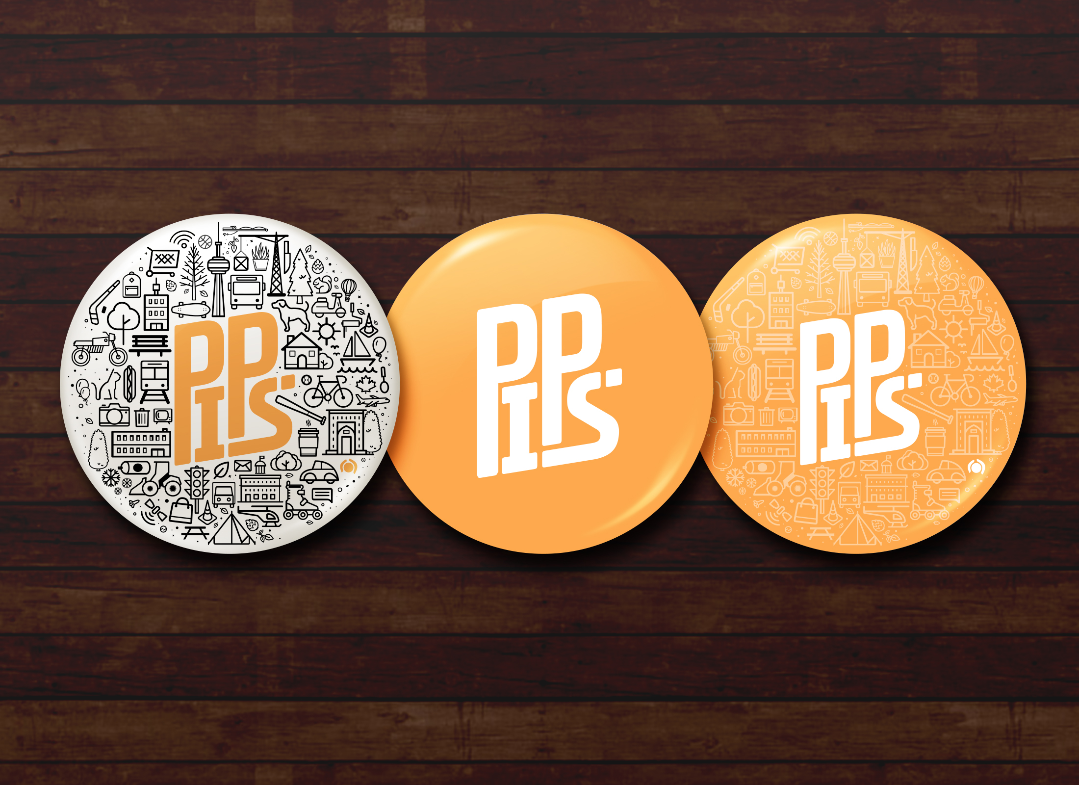 People in Public Spaces (PiPS), Button Designs
