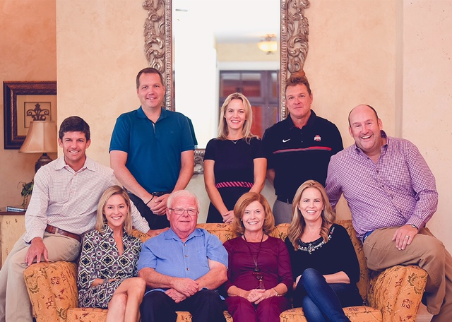 The White Family Foundation   Board of Trustees     From left to right: Trustee Jay Rooth, Trustee Doug Carlan,Chairperson Lauren White Carlan, Founder & Secretary JoAnn White, Founder & Finance Committee Joe White, Trustee & Finance Committee Megan Anderson, Trustee John Anderson, Trustee David Herman,and Trustee & Treasurer Amy Stanton.