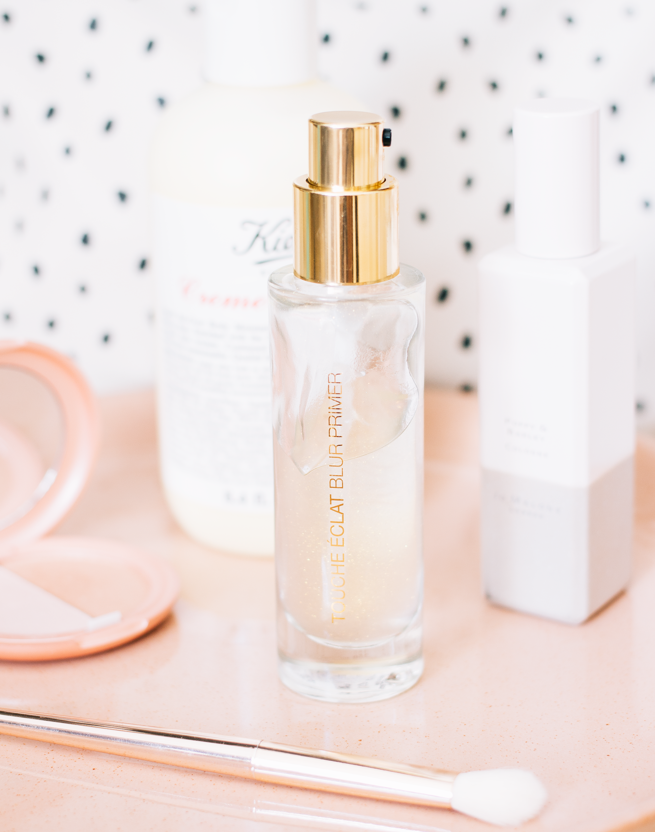 ysl touche eclat blur primer* - If you hate anything that feels slippery on the skin and is more than likely laden with silicones then you will not like this product from YSL. And granted, it does look like an absolute dream in the bottle with the flecks of gold running throughout the product and of course, the golden packaging but seriously steer clear if you don't like those two things. This is the first primer I've liked that is this consistency, usually, they turn my skin into a greasy mess but this one is fine and really helps to perfect the complexion. It glides over any imperfections and creates a hydrated and even canvas for anything you want to apply over the top. Although this does feel silicone-y on the skin I don't find it leads to blocked pores or anything like that. And do not fear, those pretty gold flecks do not transfer on the skin in the slightest, no glittery face over here thank you. The biggest downside is that I do find that I've got my way through it quite quickly even though you only need a small amount.