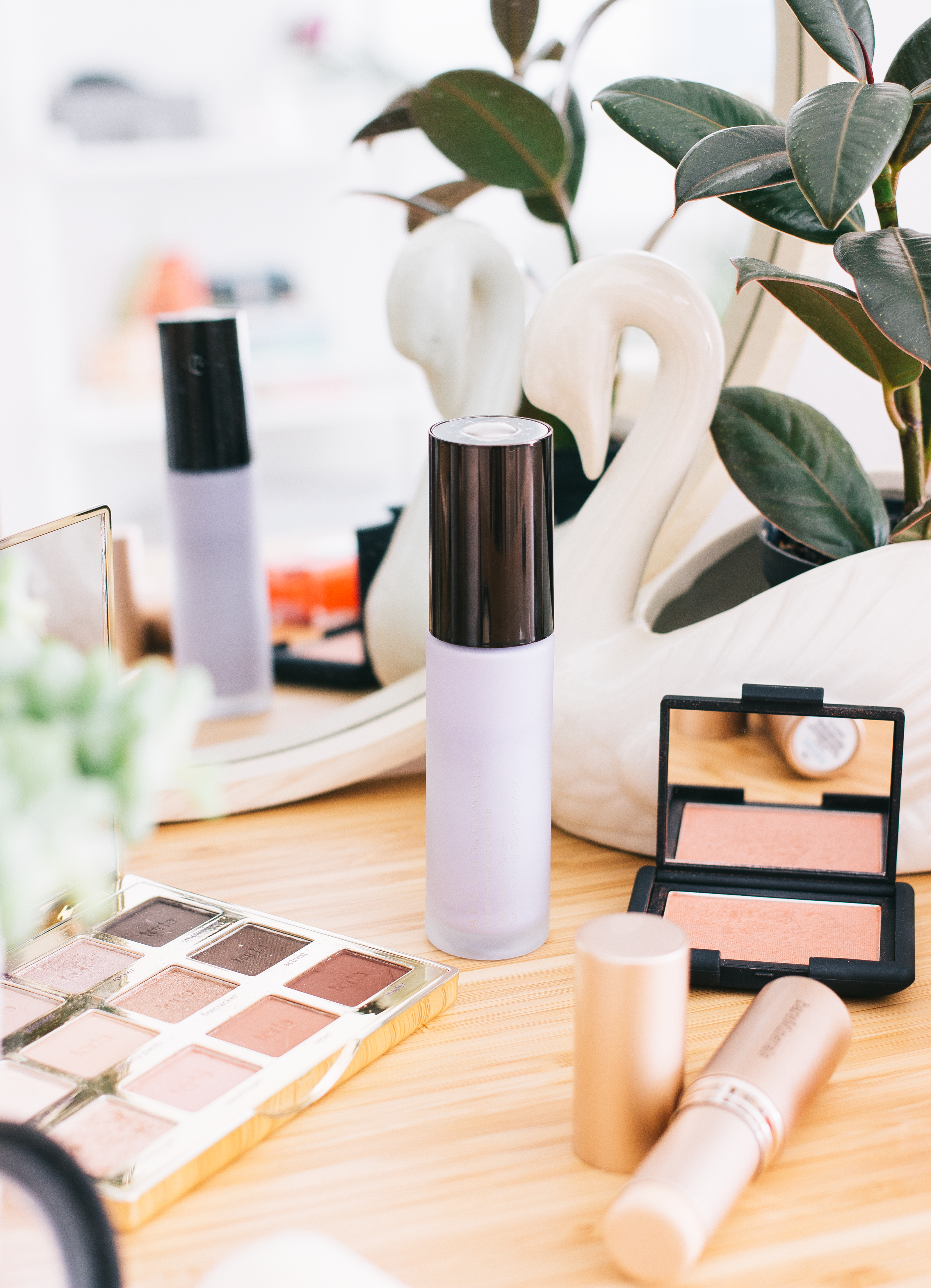 becca first light priming filter (gifted) - I'd not used this primer in a while as I'd been opting for more hydrating options instead and honestly, I'd forgot how lovely this is. The lilac tone aims to add luminosity and light to the skin without the need for anything too shimmery and it really does add a beautiful soft luminous hue to my complexion. It's almost like when you've got applied a rich moisturiser but obviously without the huge moisture boost as I'm not sure how well any makeup item would survive with that as a canvas. Not only does this perform wonderfully under any type of product but it also works well for a quick pick me up when you're going makeup free.
