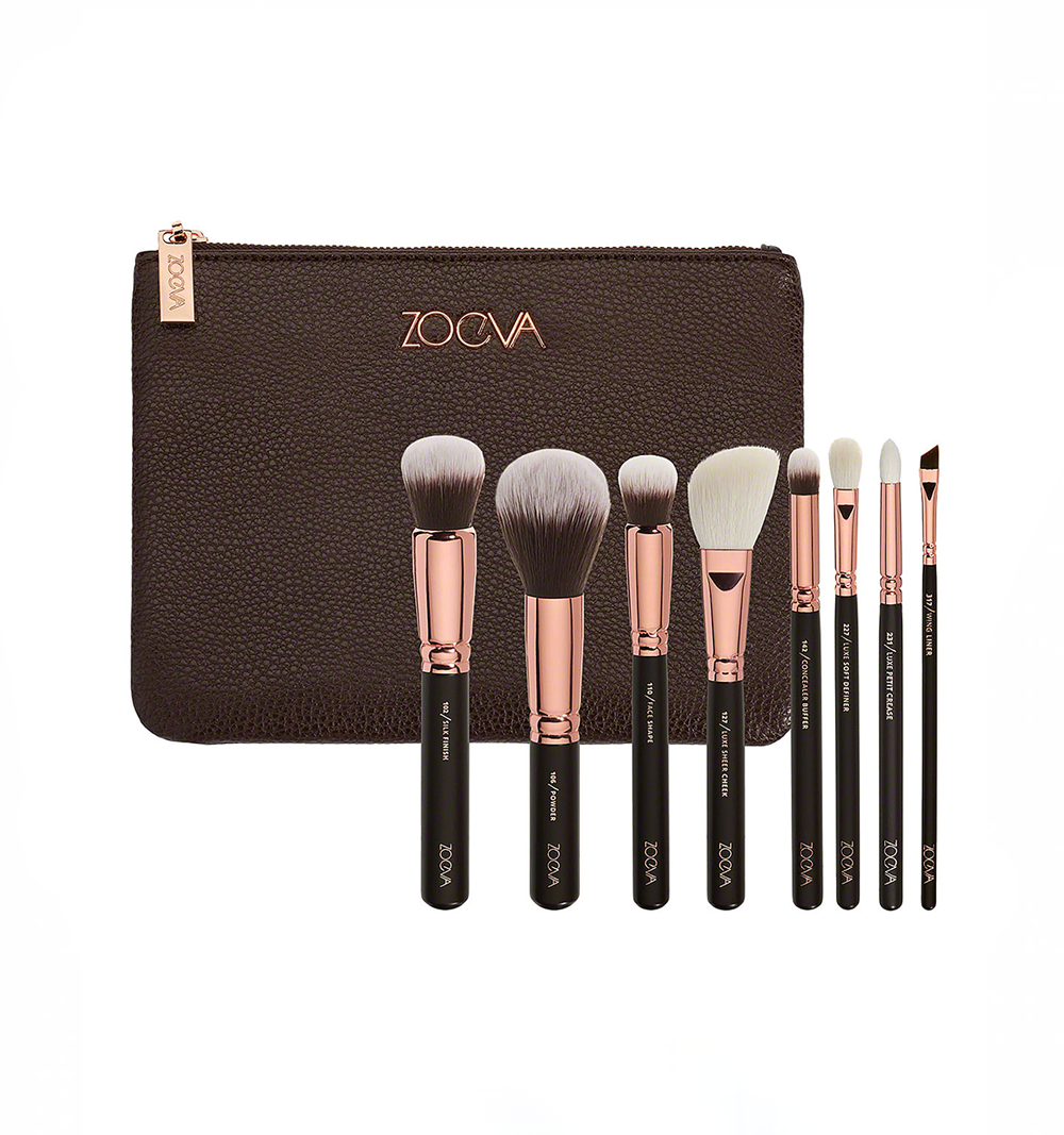 zoeva rose gold brush kit - For years my brushes of choice were Real Techniques which were, of course, influenced purchases but then the Zoeva Rose Gold brushes came along and blew them out of the water. There is a handful of the RT brushes that I still love and use to this day which is a testament to how long lasting they are. But the Zoeva are mostly what I use every time I apply makeup and they really are incredible. The Silk Finish brush is hands down one of the best brushes I've ever used to apply any type of base product whether that be tinted moisturiser or a full coverage foundation. And the eye brushes makes eyeshadow application a breeze even if you're a novice like me.