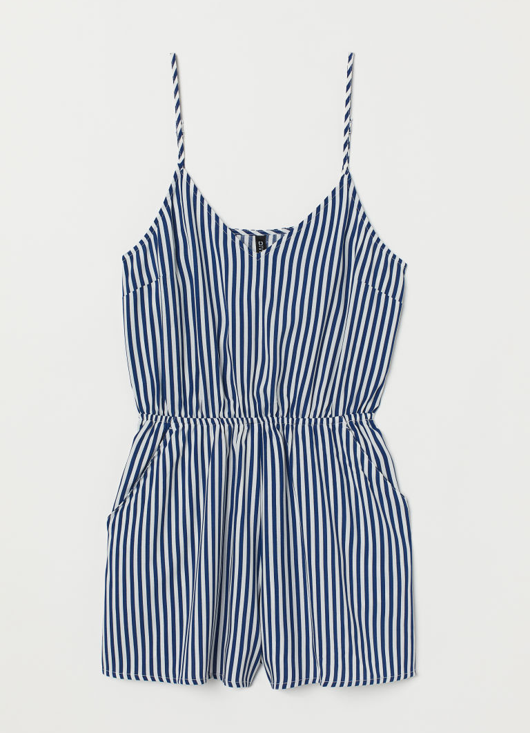 Rompers - I've always had a love-hate relationship with rompers because even though they're super cute and comfortable the fact that you have to get pretty much naked to go for a wee is a big downside for me. I've only got one in my wardrobe at the moment which is a linen striped number and it's my go-to for those really warm days and you need something a little more practical than a dress. I'm not too much of a shorts wearer anymore as I don't find they suit my style as much as they once did so a romper is how I get my shorts fix. I'm currently on the hunt for a black romper in the style of overalls as I would love to pair them with a Breton underneath because I'm not a shorts wearer I find my Breton's can go a little unloved unless I'm wearing jeans in the warmer months.