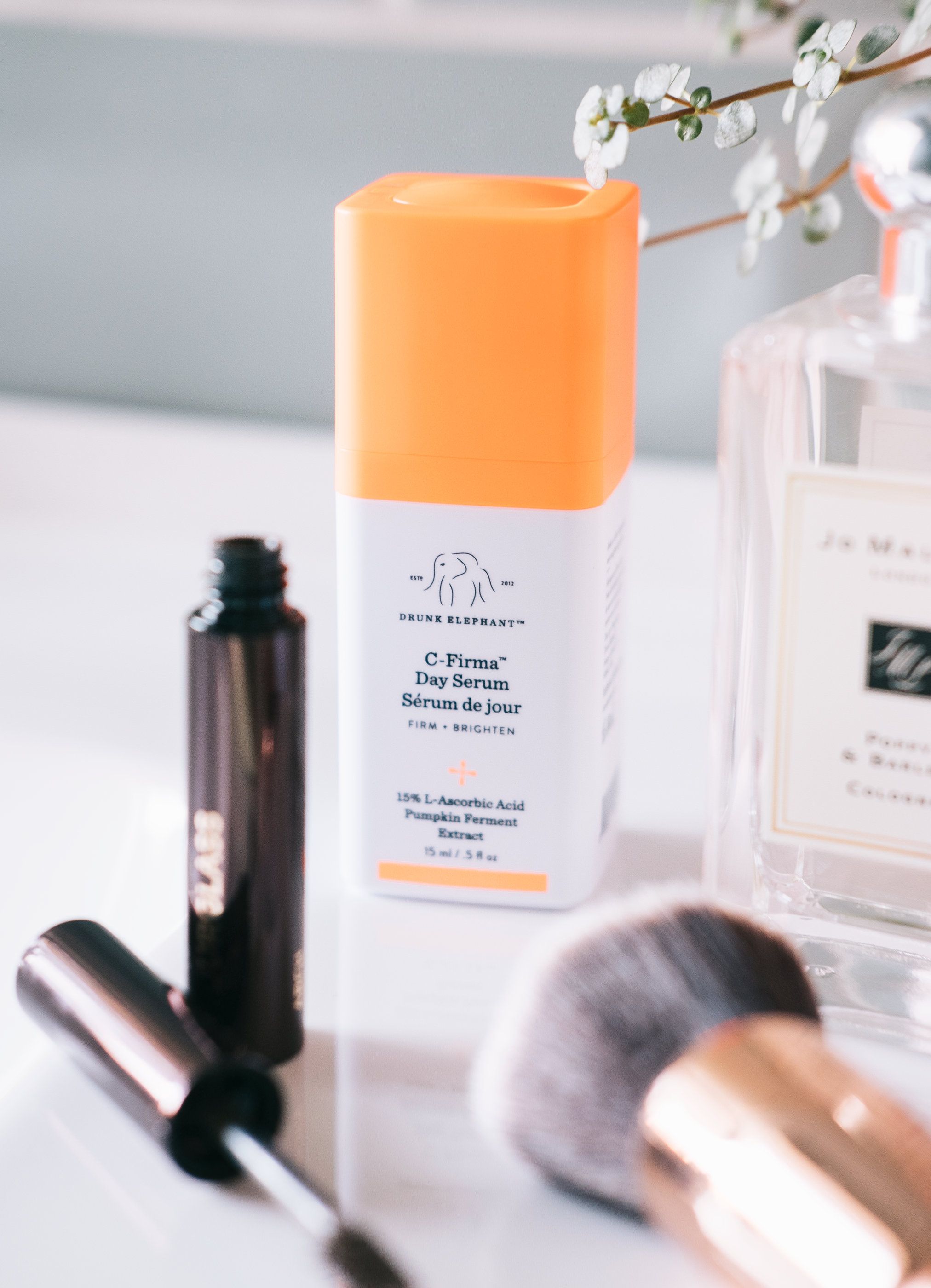 Drunk elephant c firma day serum (gifted) - Drunk Elephant is a brand that I have heard so much about that it's impossible for any beauty lover to not at least have some interest in the popular brand. I've been giving a couple of the serums a whirl in the past couple of weeks and I have to say, they are brilliant and if you have got the funds then I highly recommend looking into them. First up is the C-Firma Day Serum which contains a potent vitamin C, vitamin E pumpkin extract and many more wonderful ingredients and the combination of them all has been doing my complexion wonders. Things are not only brighter but they feel so much smoother too which is something I find difficult to maintain with my skin especially if a breakout erupts. Formulation wise it very much feels like an oil but it doesn't leave the complexion feeling slippery and sinks in quickly for my moisturiser to go over the top and it creates a beautiful moisture sandwich. If you read my post on my current breakout busters then it feels and gives similar results to the Dr Roebuck serum that I mentioned in that post despite having completely different ingredients.