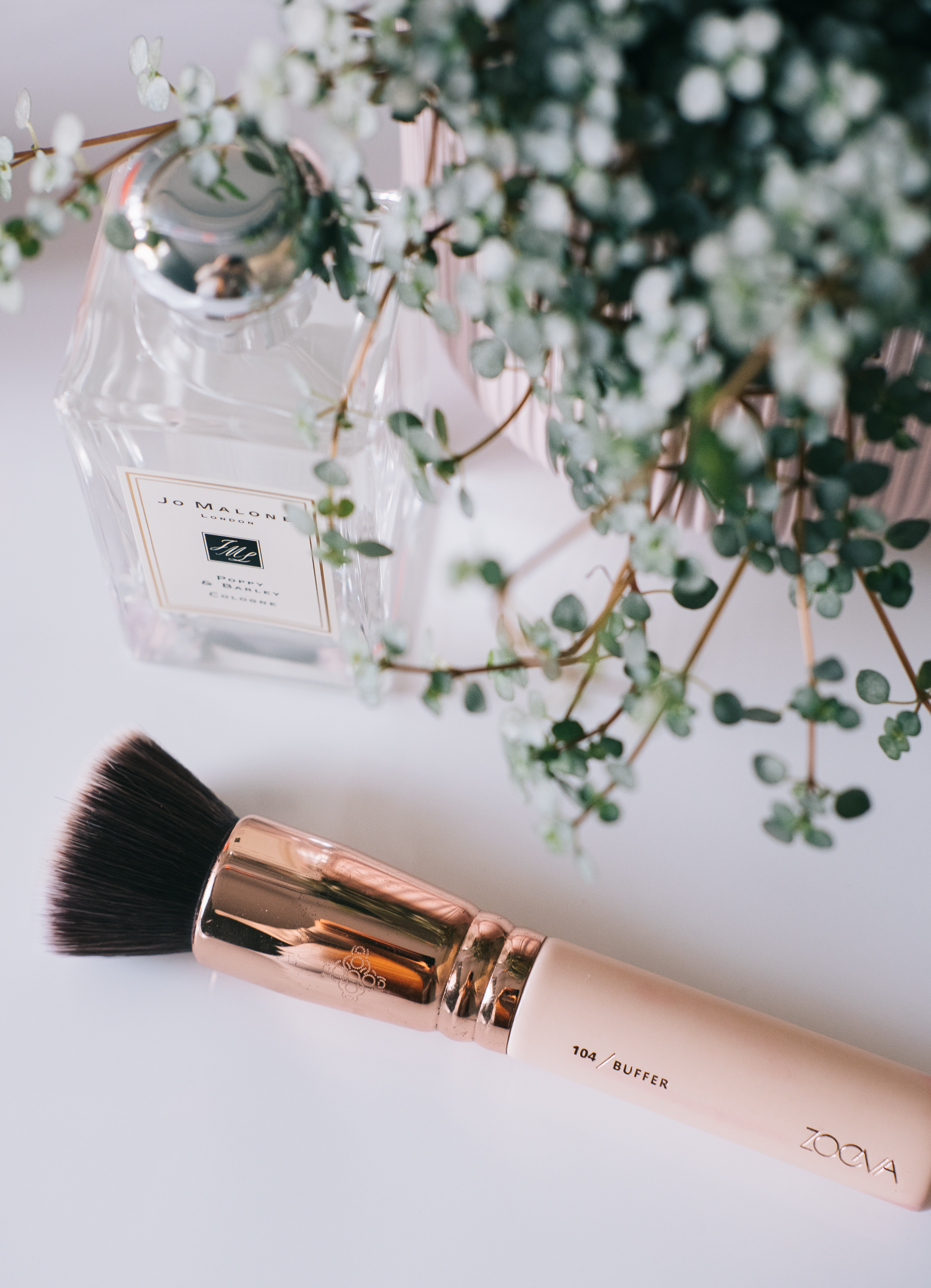 zoeva 104 buffer brush (gifted) - I've been a long-time lover of the Zoeva makeup brushes, they've been my go-to for years now and I don't see that changing anytime soon. And for the last few years when it came to my foundation I've been using the Zoeva Silk Finish brush which is also fantastic but that's not been giving me best results lately so I think it might be time to replace it but this one is still going strong. The 104 buffer brush is a large dense flat-topped brush that blends in any type of base I have with absolute ease and despite its size, it still gets into all the contours of the face beautifully. All too often brushes that are this dense can soak up base products but that isn't the case with this and it's incredibly easy to wash too. Many have jumped ship to beauty sponges in recent years but I'm still loyal to brushes and I think I always will be a brush lover.