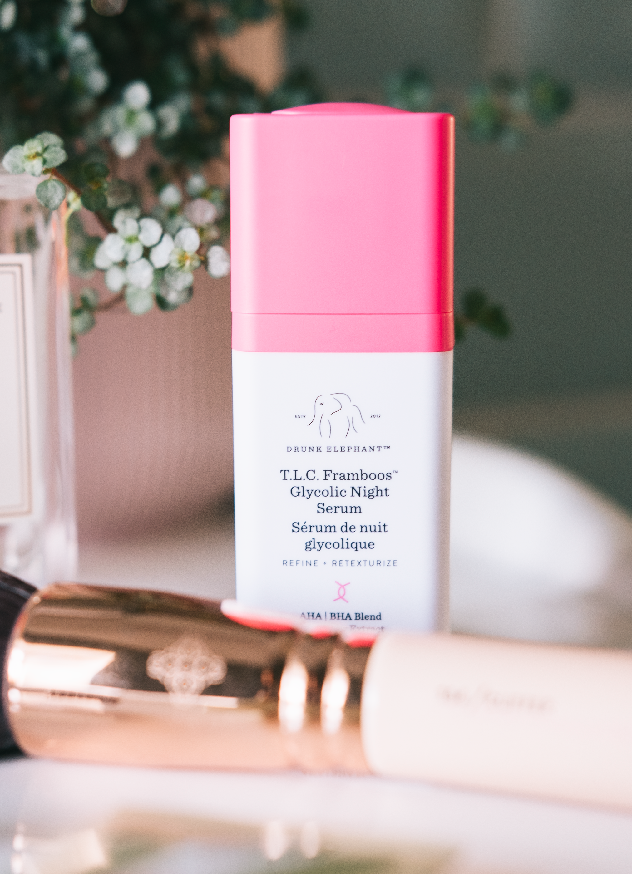 drunk elephant t.l.c framboos glycolic night serum (gifted) - This is the second Drunk Elephant serum that I've been giving a go and if your skin agrees with glycolic acid then you're going to love this. Even though I've been a user and lover of this particular acid for a long time it took my skin a little while to get used to how potent this serum is as it's not just glycolic acid and it contains a beautiful blend of AHA and BHA's. So if you're only just getting into this type of skincare I would go easy when using this as it's strong and of course, use SPF in the AM. As this is so strong it means that the results are noticeable quickly and I have to say the clarity of my skin at the moment is great as the blend of acids scrubs away at the dead skin cells to reveal a brighter complexion. And I think for the first time I've not had my usual monthly hormonal spot which has to be down to the skincare that I'm using over any other changes.