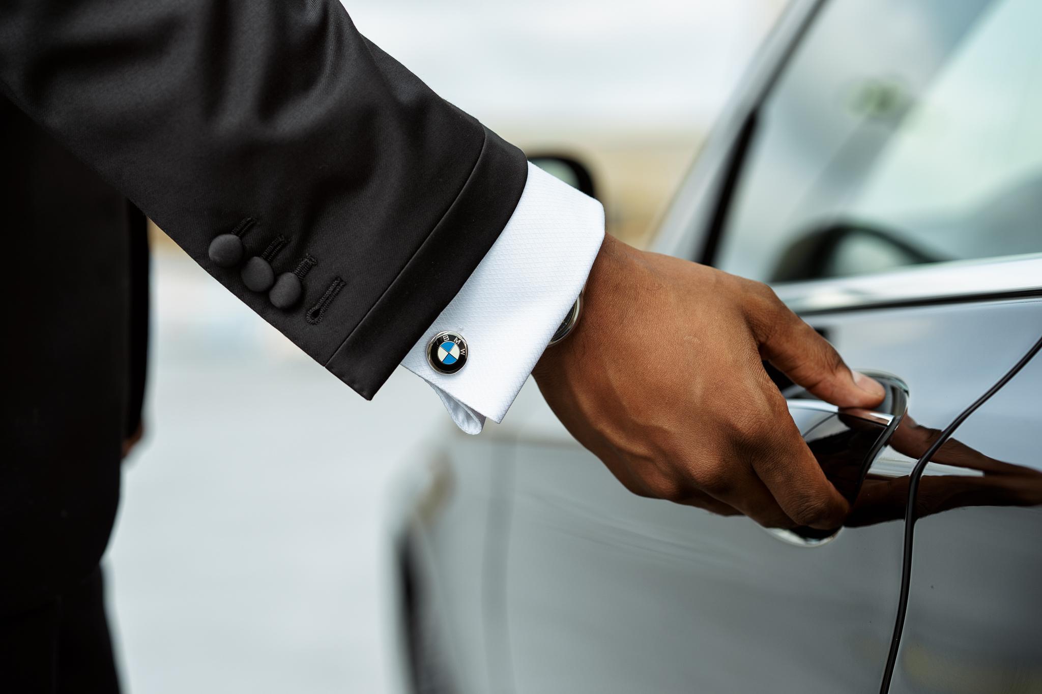 BMW car open