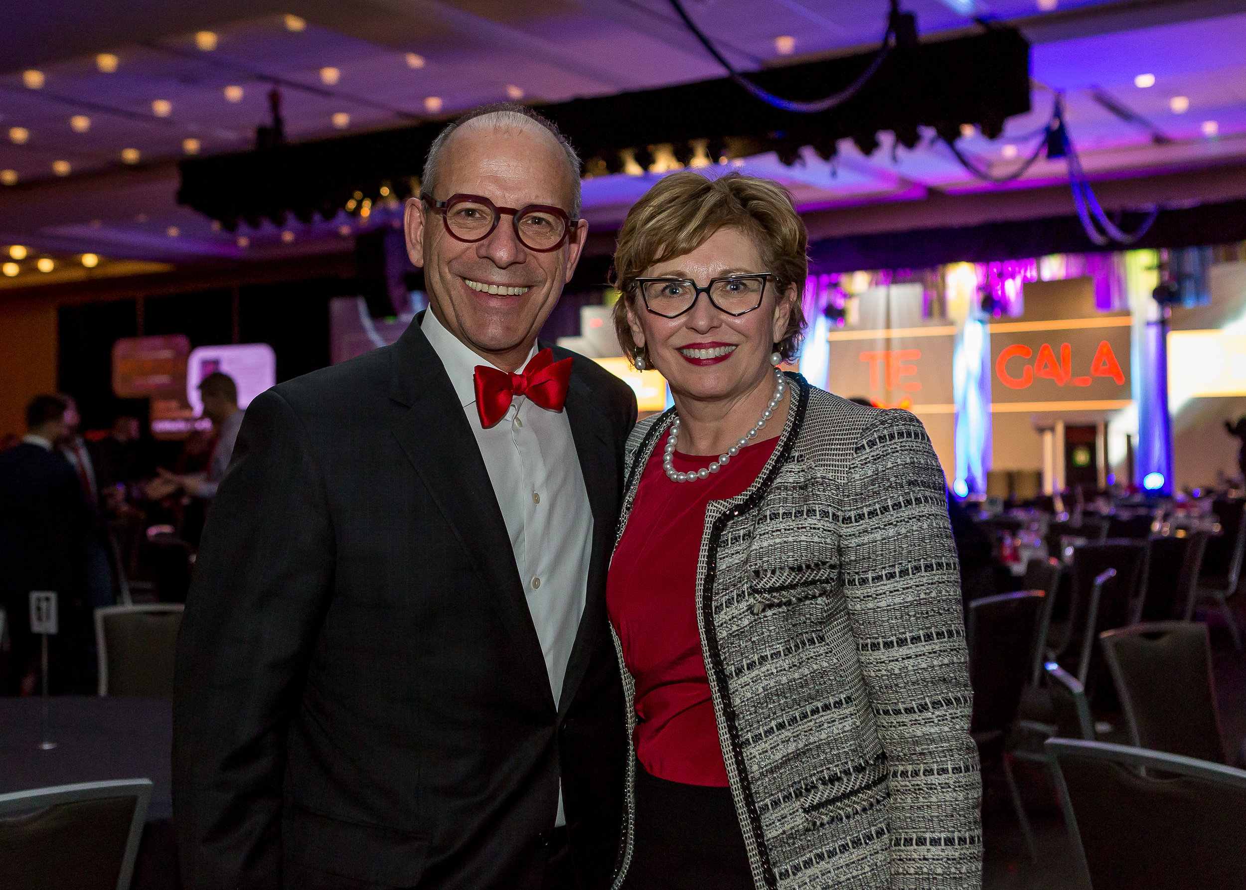 Leon and Vonnie Zupan were honoured for their donation at the 2017 Red Tie Gala
