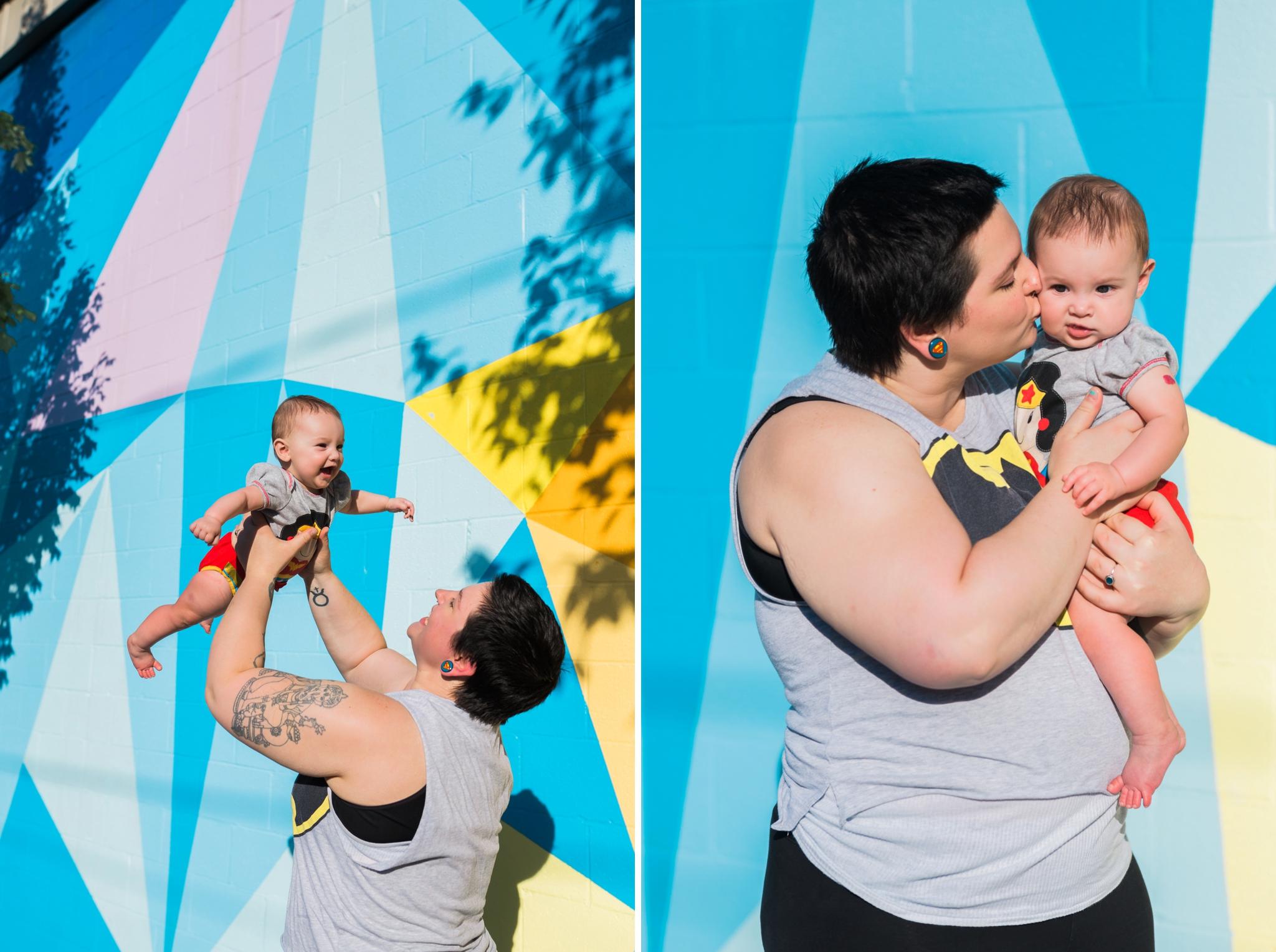 Emily Grace Photography, Lancaster, PA Lifestyle Family Portrait Photographer, Two Dudes SoWE Murals Session