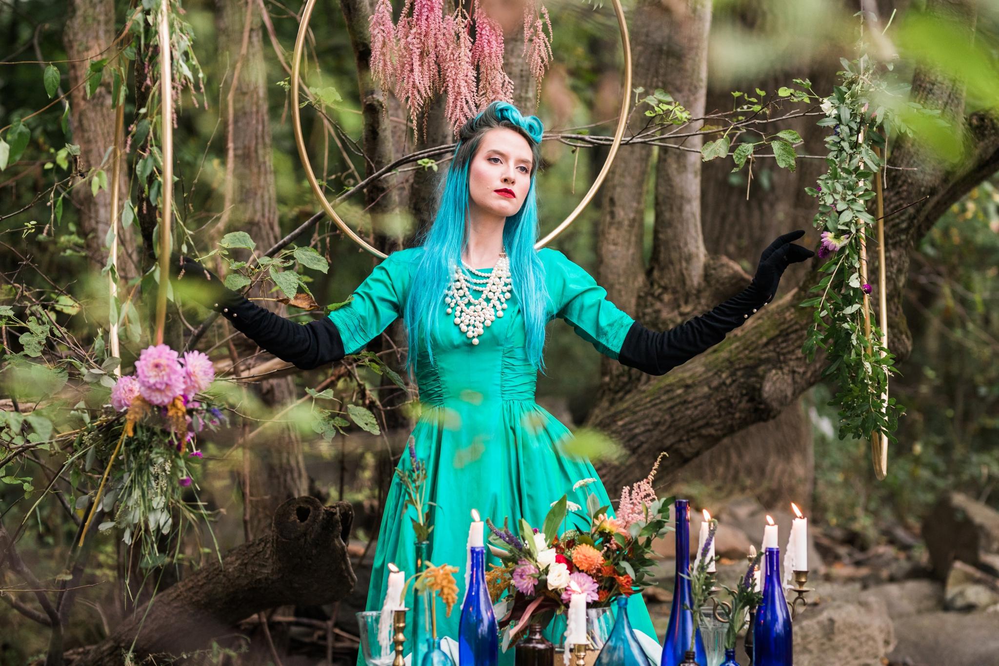 Emily Grace Photo, Lancaster PA Wedding Photographer, Jewel Tone Mermaid Style Shoot, Lakefield Weddings Manheim