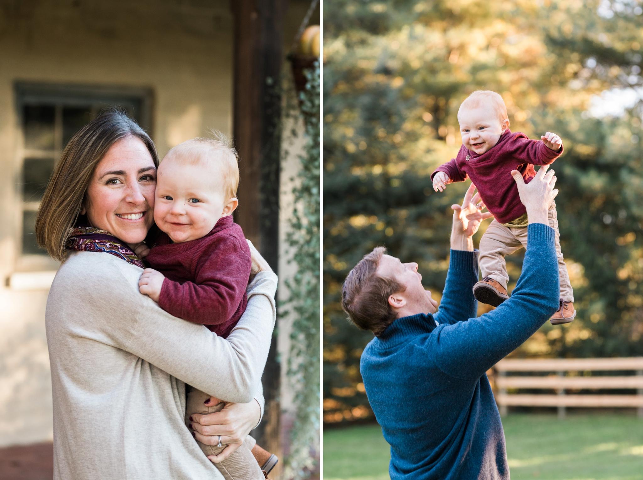 Emily Grace Photography, Lancaster PA Lifestyle Photographer, Fall Family Portraits, Family Photos with Dog