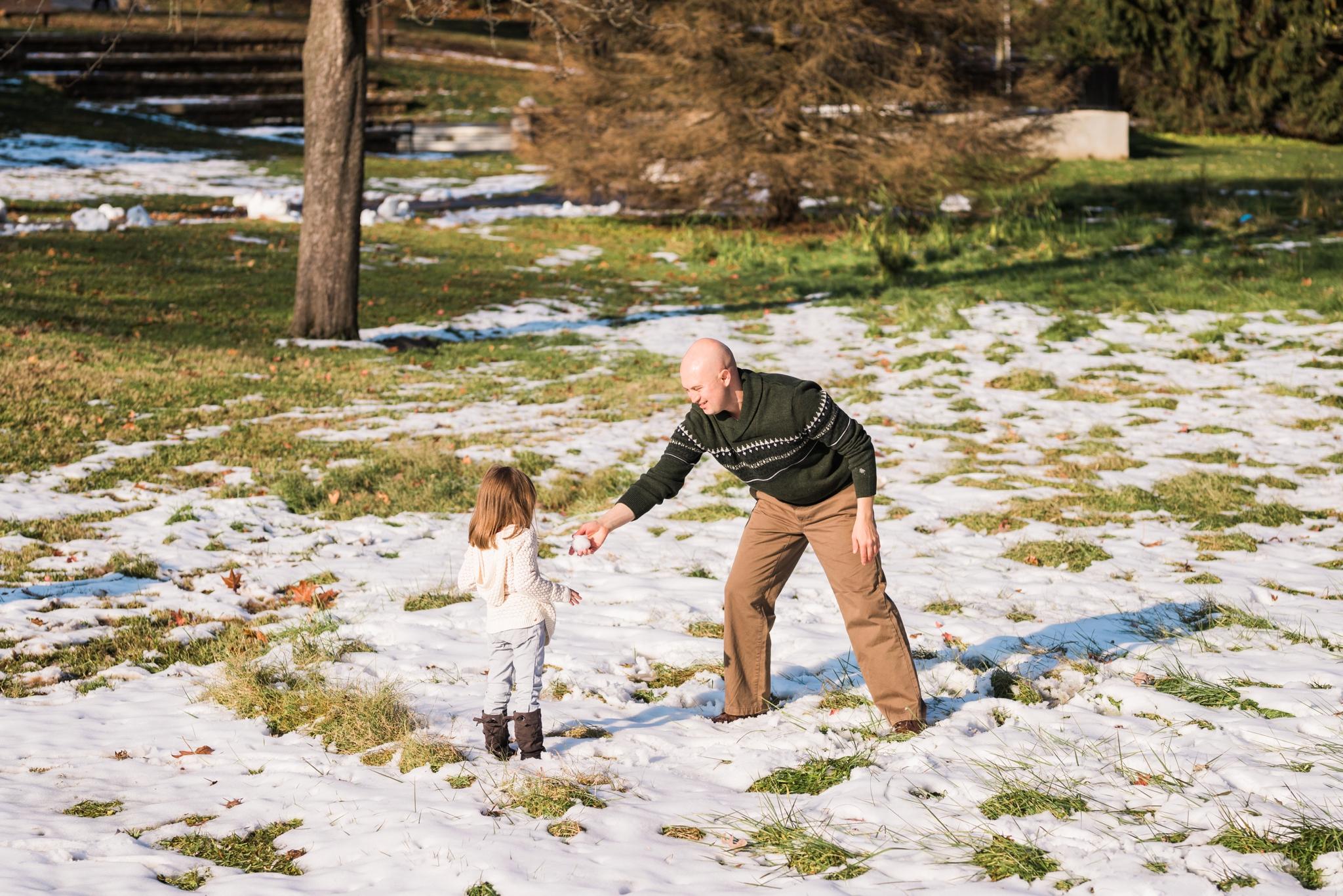 Emily Grace Photography, Elizabethtown PA Family Portrait Photographer, Elizabethtown Borough Park, Winter Family Photos