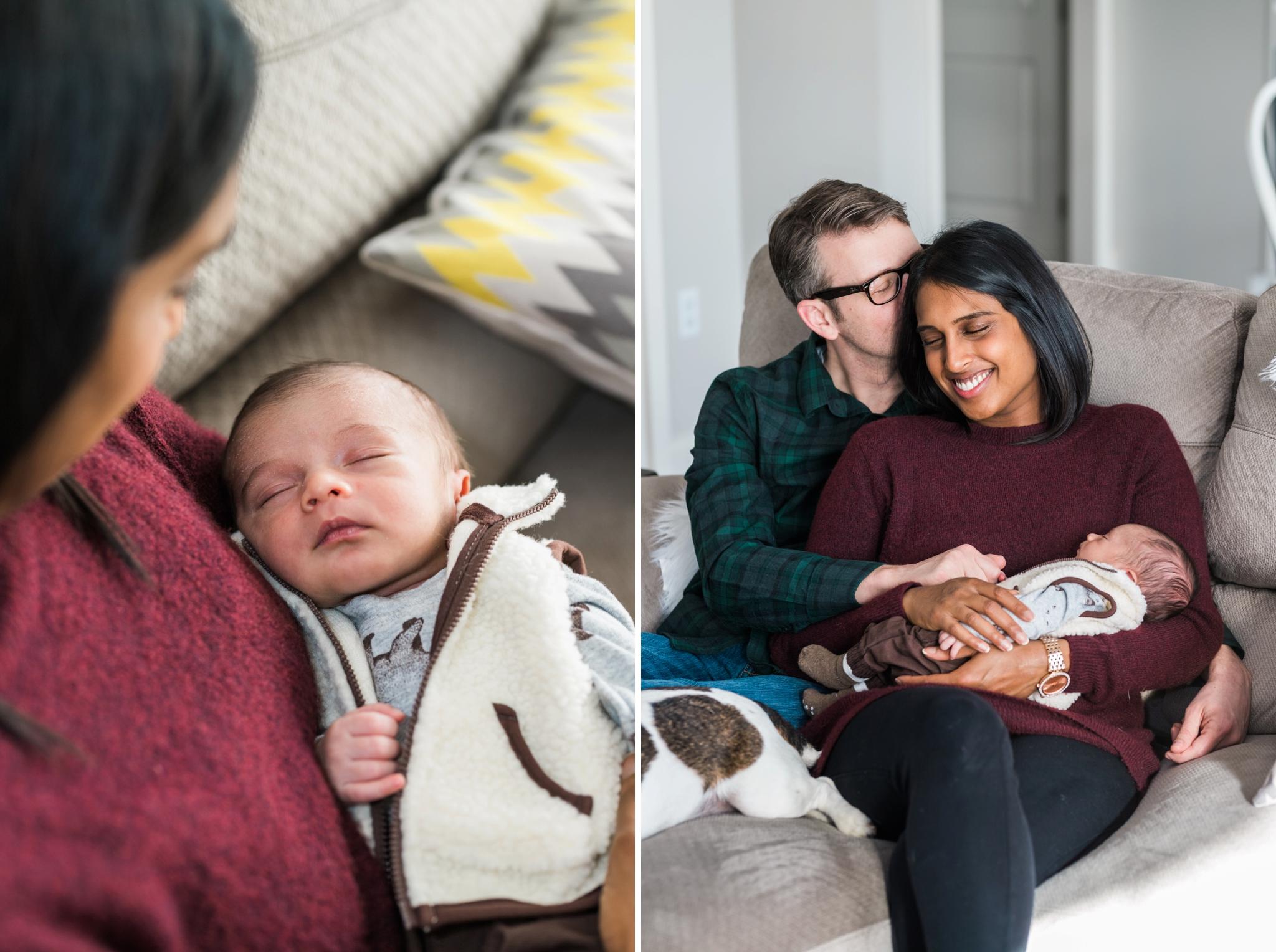 Emily Grace Photography, Lancaster PA Family Portrait Photographer, Lancaster, PA Newborn Photos with dog