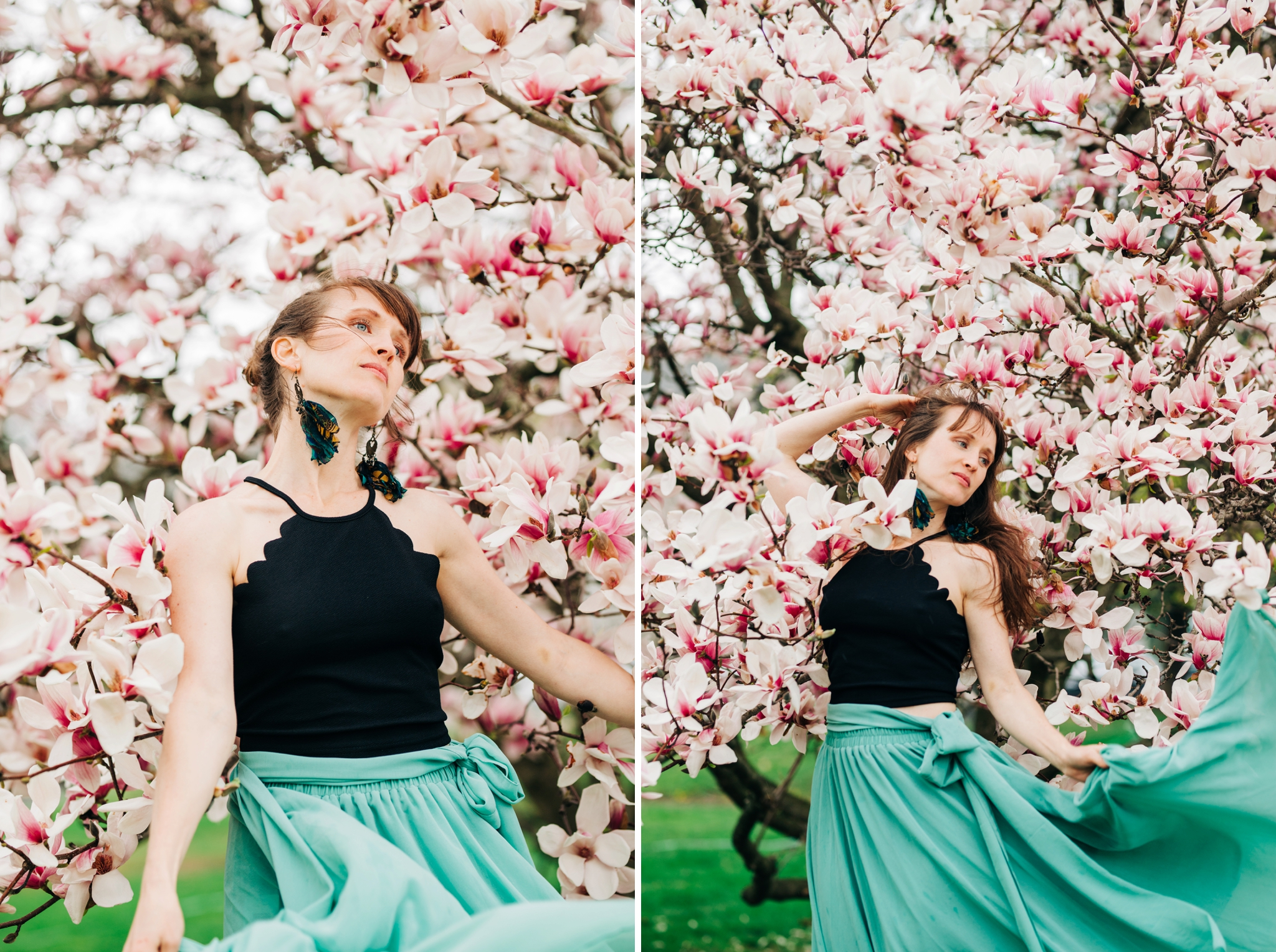 Emily Grace Photography, Lancaster PA Wedding Photographer for Adventurous Couples, Lancaster County Central Park Portrait Session, Magnolia Tree Photo Shoot