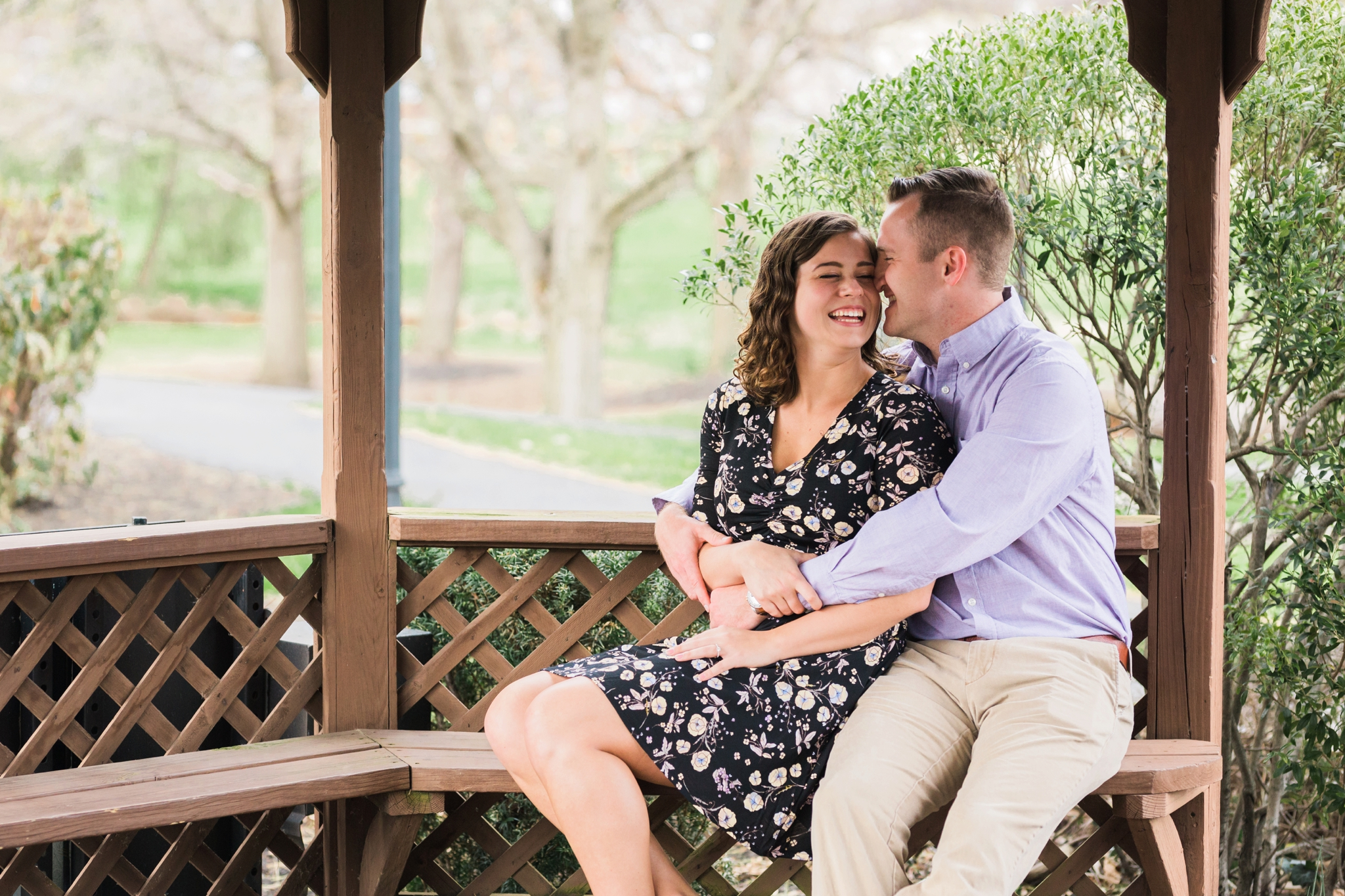 Emily Grace Photography, Lancaster PA Wedding Photographer, Photography for Joyful Couples, Greenfield Corporate Center Park Engagement Session, Gazebo Portraits