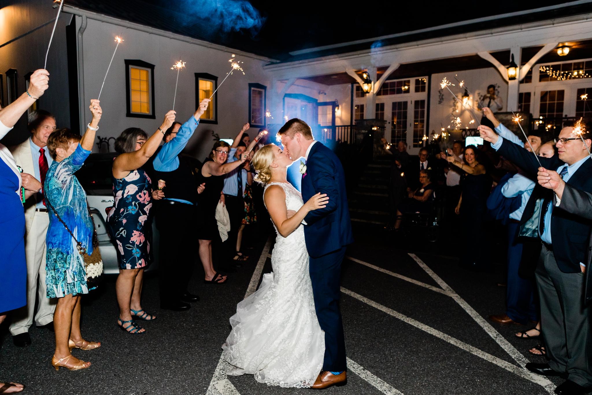 Emily Grace Photography, Lancaster PA Wedding Photographer, Wedding Photography for Unique Couples, The Barn at Silverstone, Lancaster PA Wedding Venue, The Barn at Silverstone Sparkler Exit