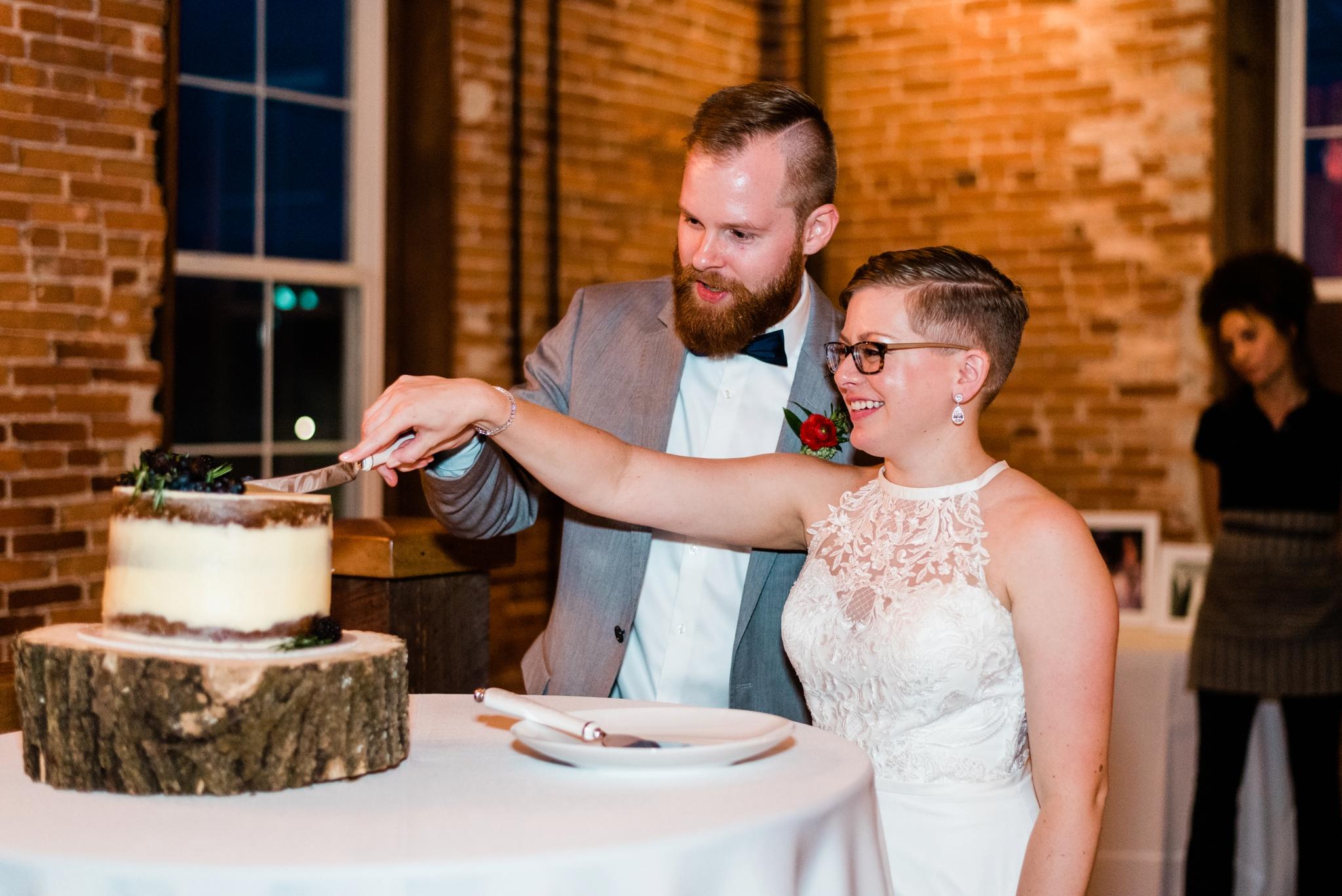 Emily Grace Photography, Lancaster PA Wedding Photographer, The Booking House Wedding Venue, Manheim PA Wedding Venue, The Booking House Manheim Cake Photos, Central PA Wedding Photographer