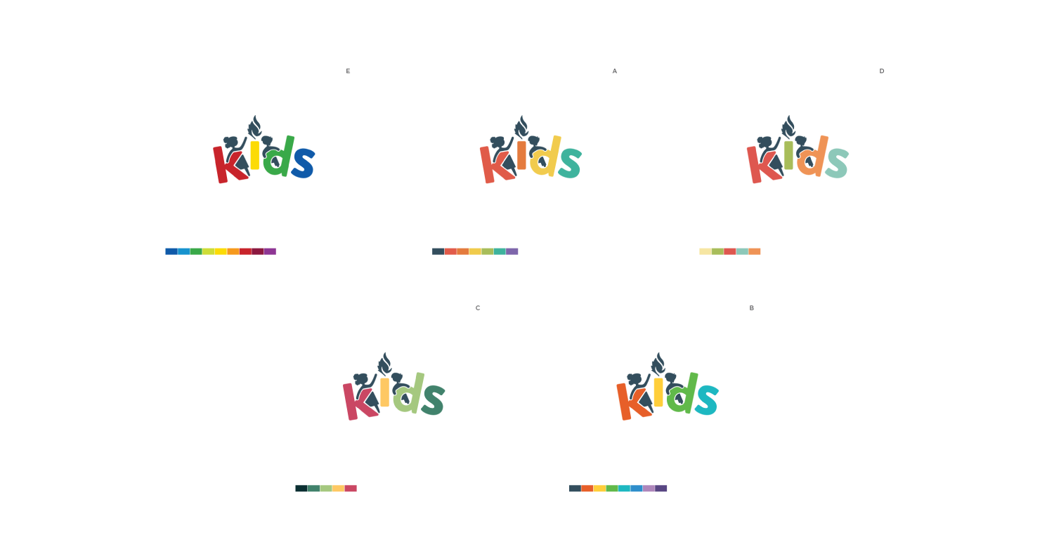 Color test with children