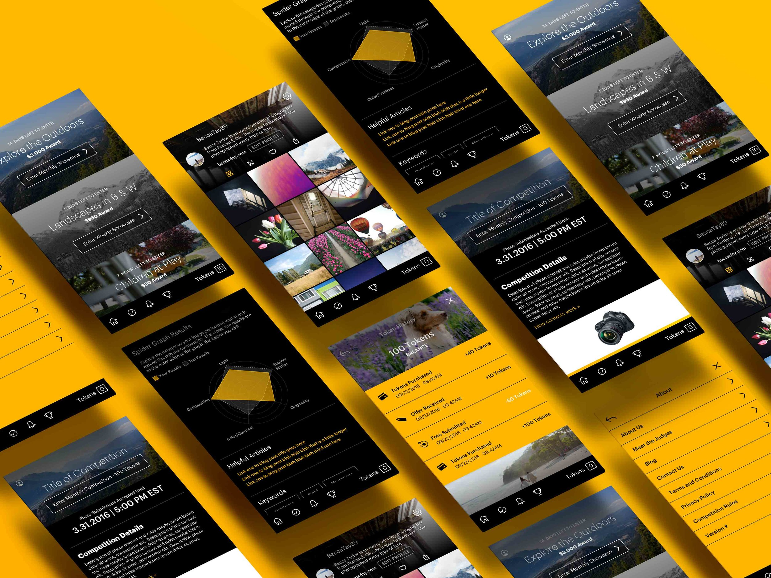 App overview // InVision designs available upon request