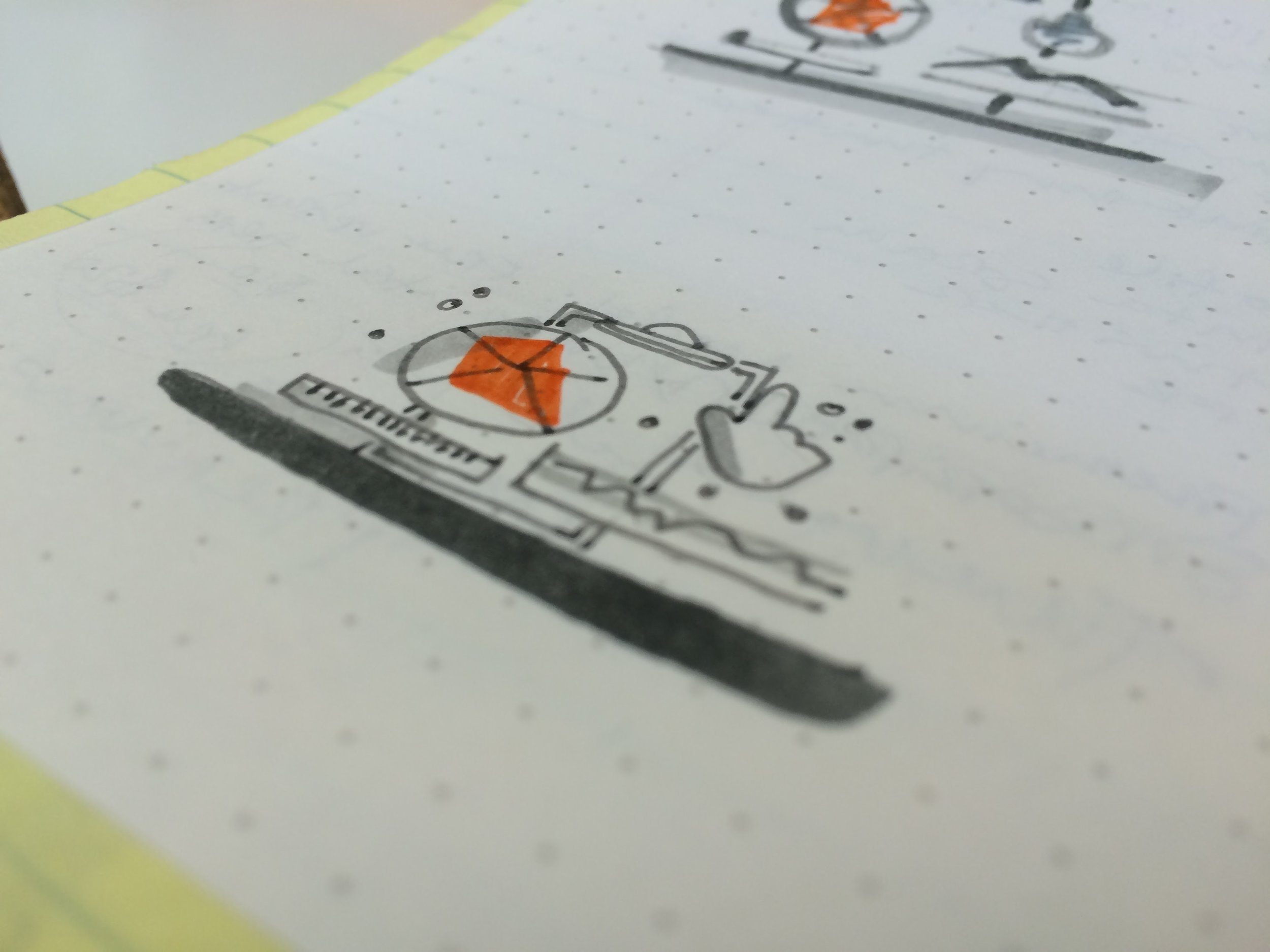 Icon process sketches