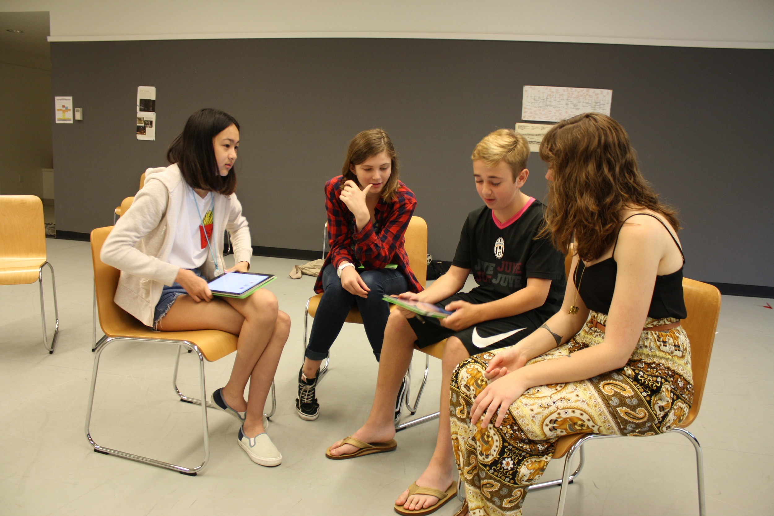 Small group work at the Experimentory