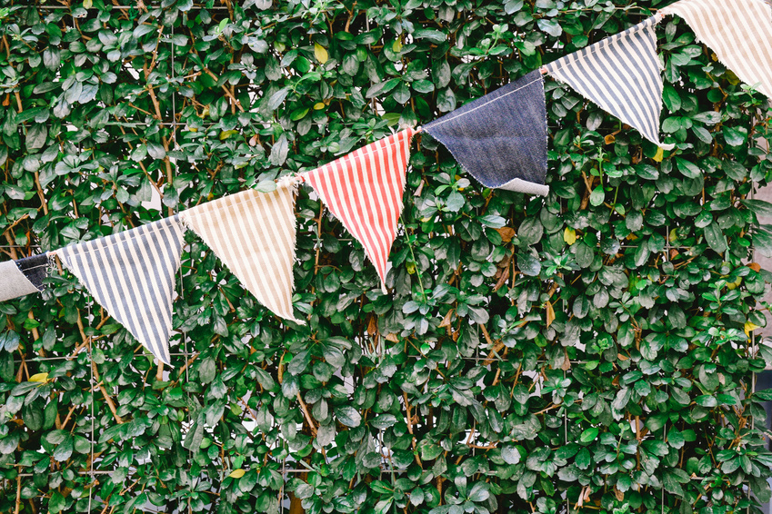 Party with our tipi hire or stretch tent hire and add some celebration bunting!
