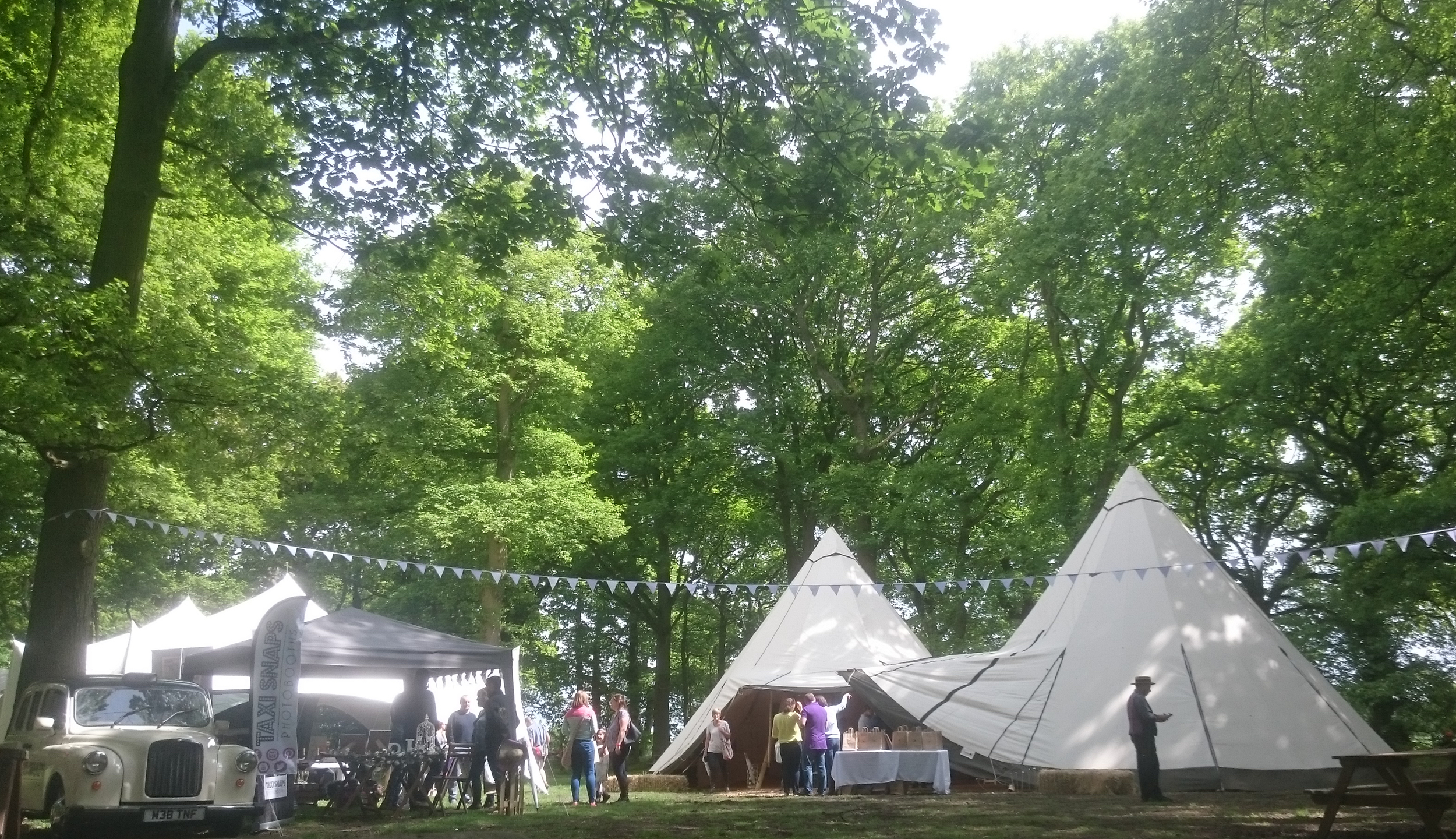 White tipis for weddings