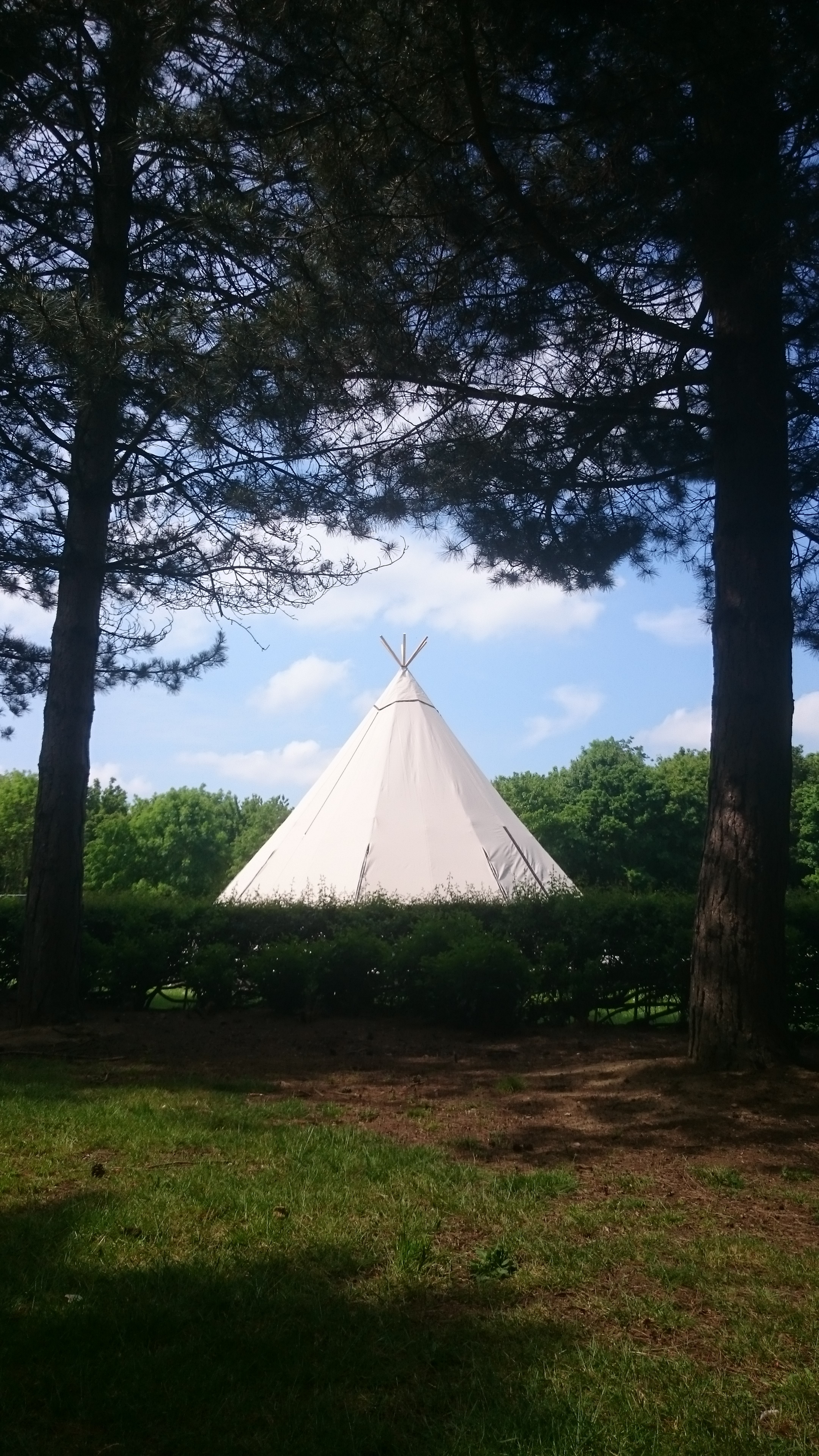 Beautiful wedding tipi