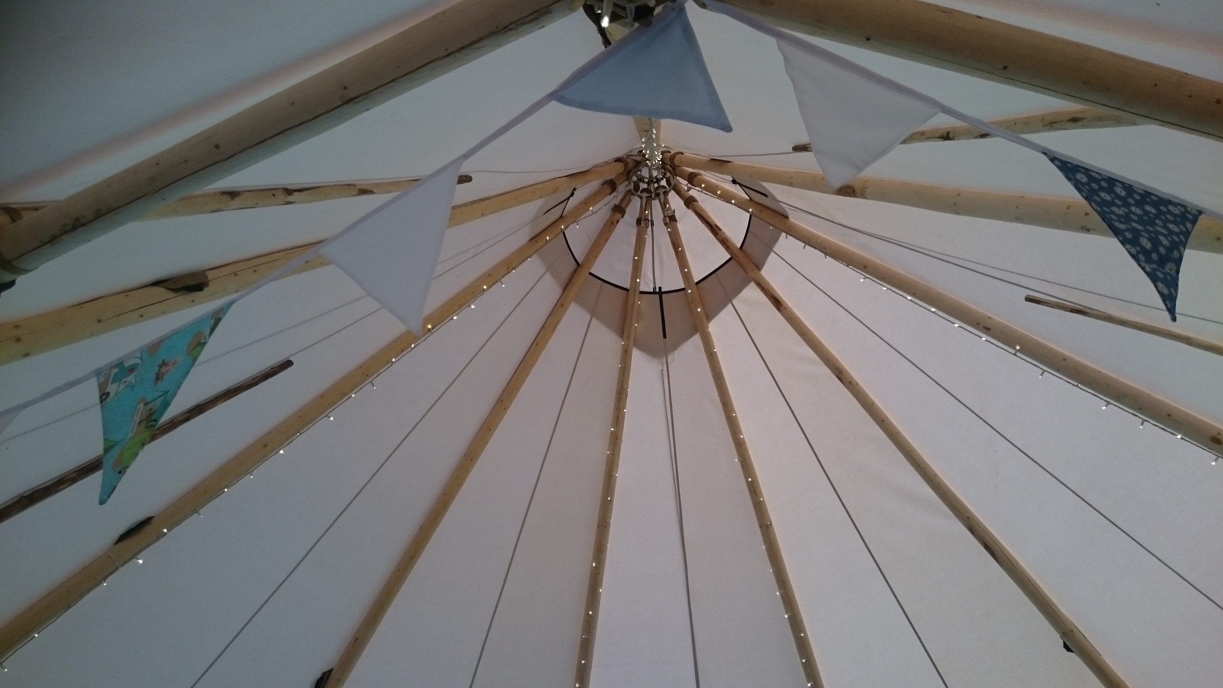 White tipi apex