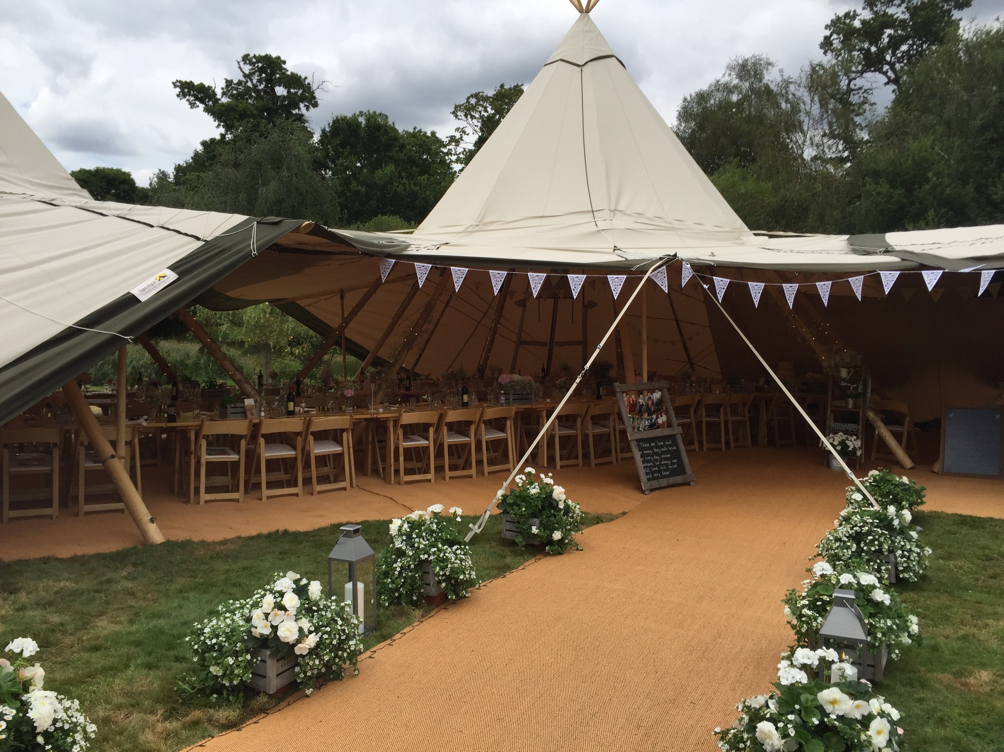 White wedding tipi