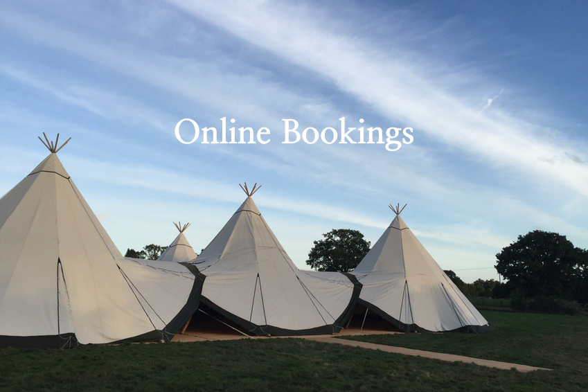 Tipi Hire Online Booking