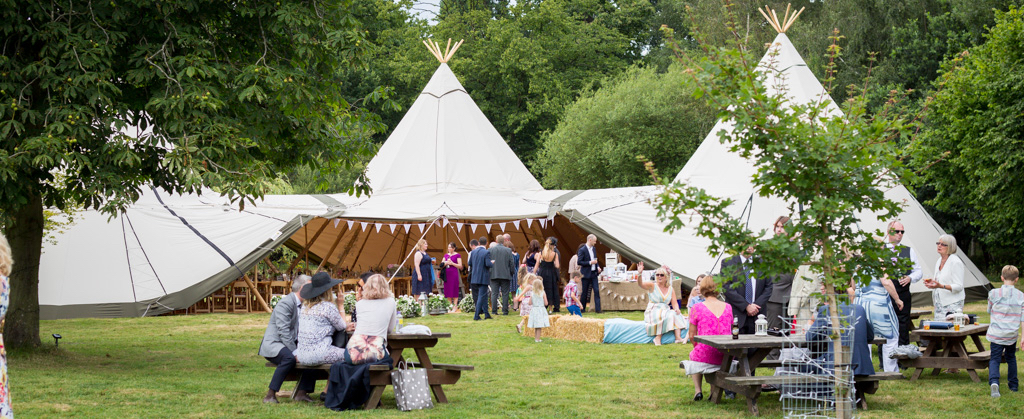 Fabulous tipi wedding hire