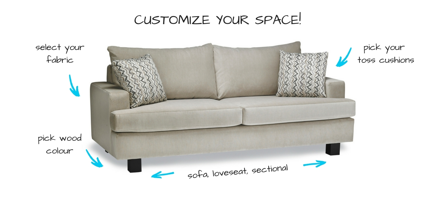 Stylus Custom Sofa options