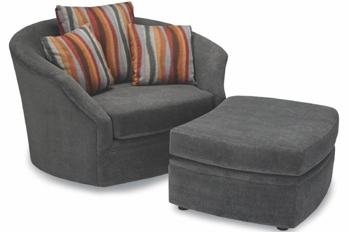 Whirl Swivel Chair & Ottoman