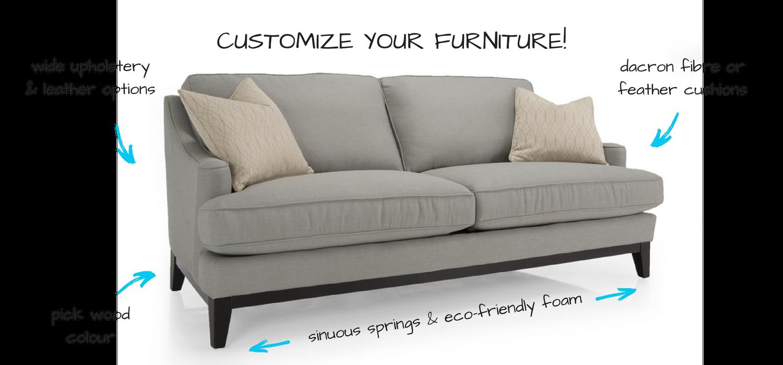 Decor-Rest Custom Sofa options