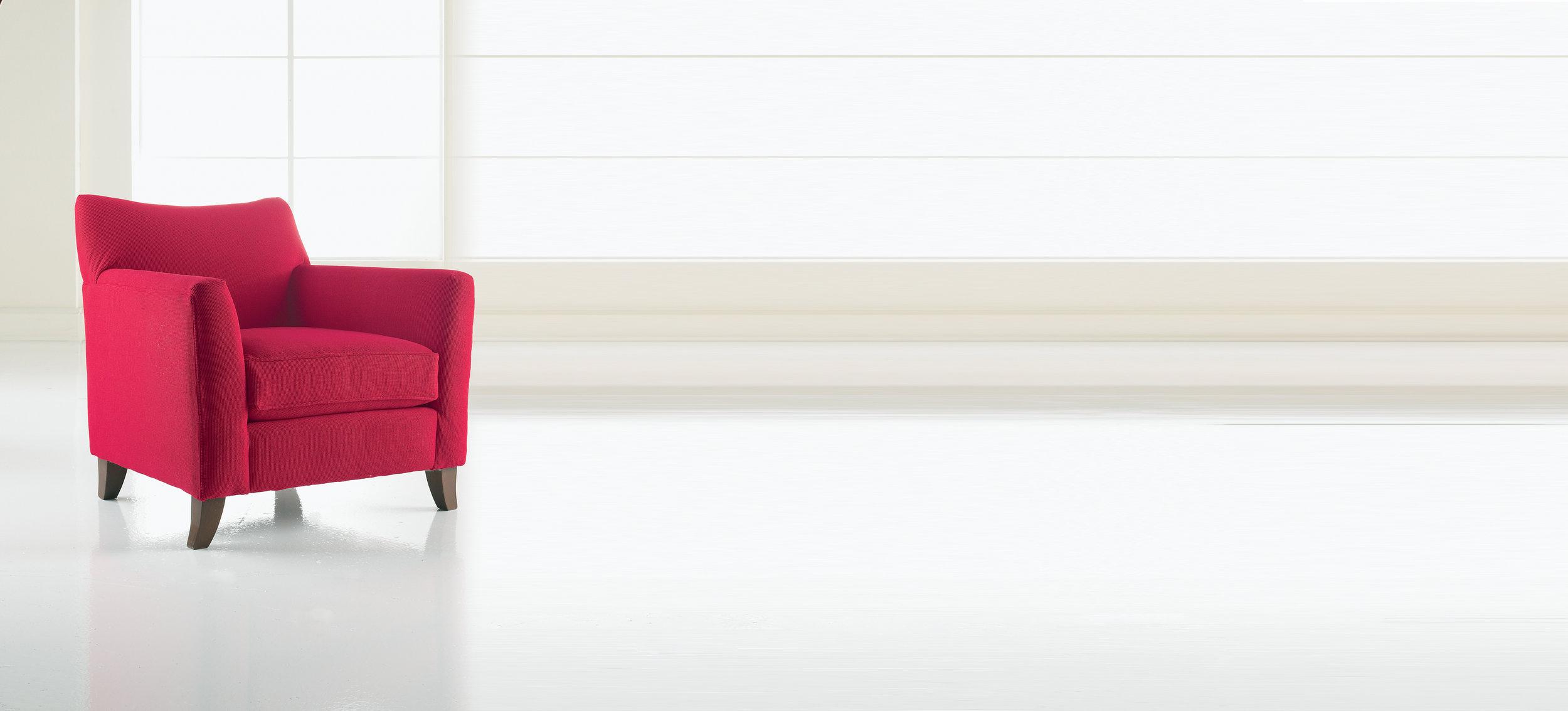 Accent chair bright colour