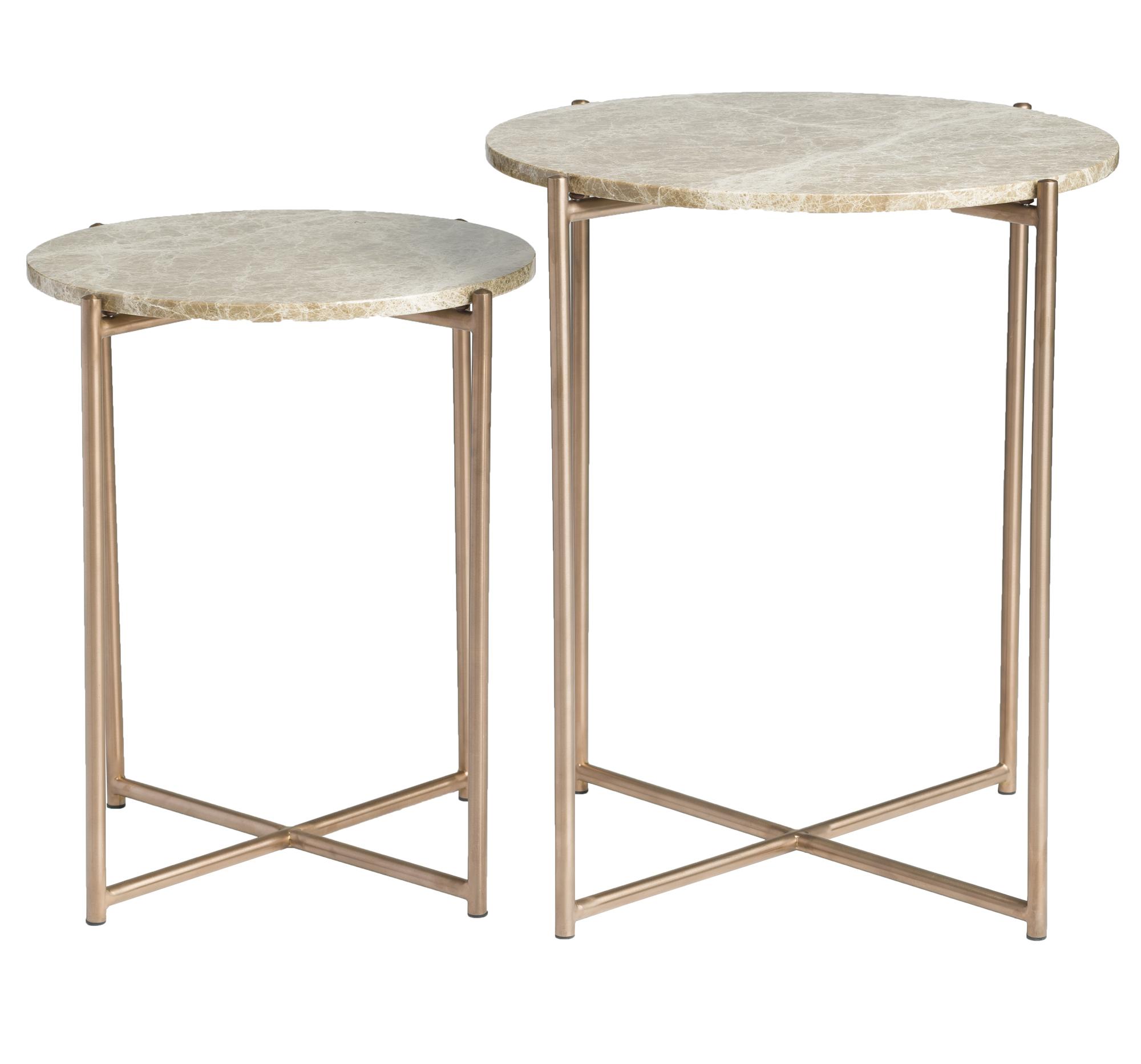 nesting tables gold metallic