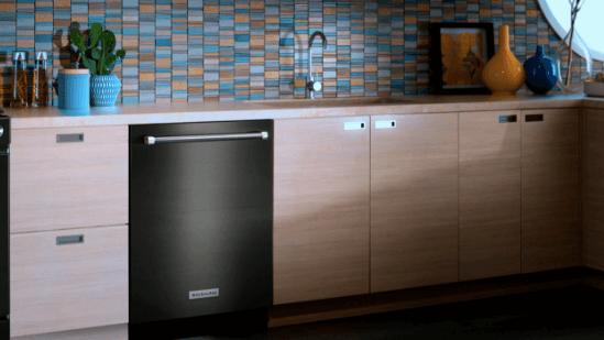 Kitchen Aid Black Dishwasher
